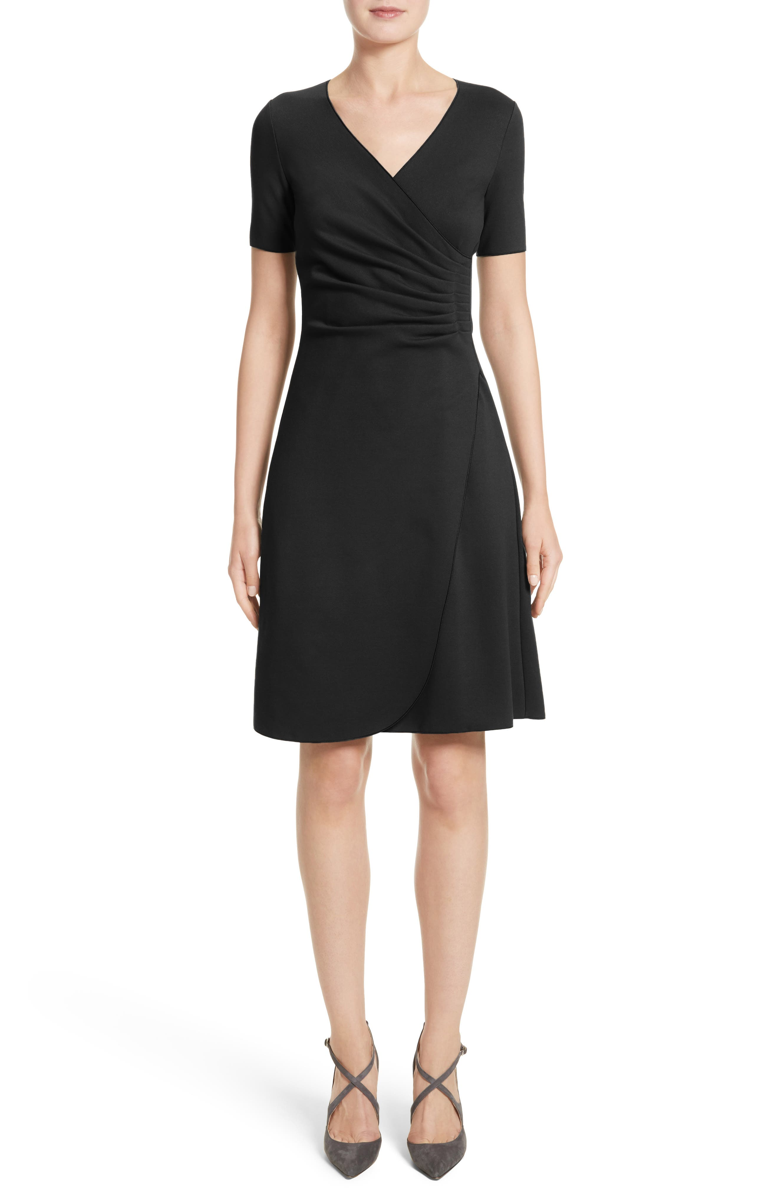 Armani Collezioni Milano Jersey Faux Wrap Dress (Nordstrom Exclusive)