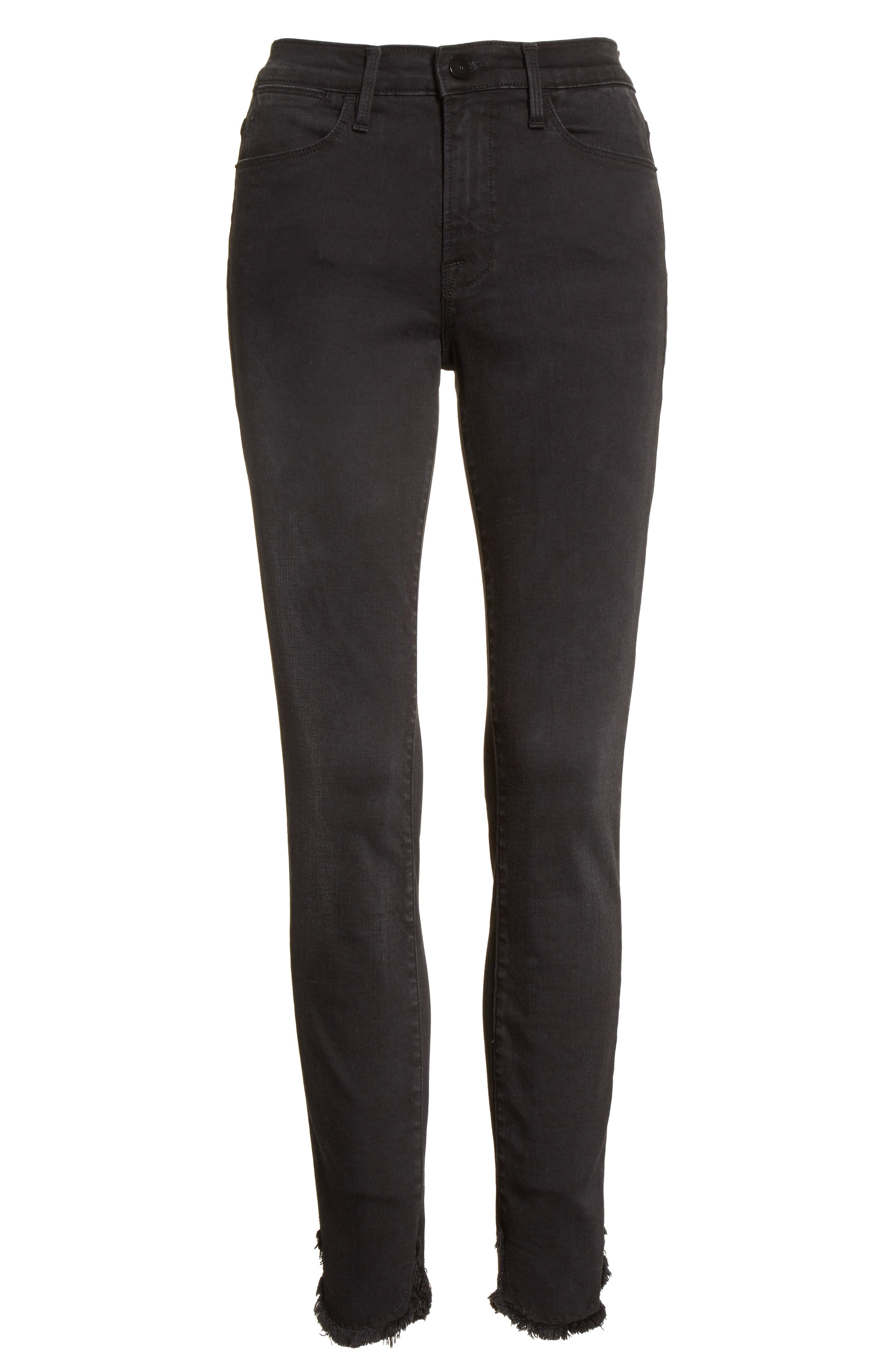 Le High Petal Hem Skinny Jeans,                             Alternate thumbnail 7, color,                             Harrington
