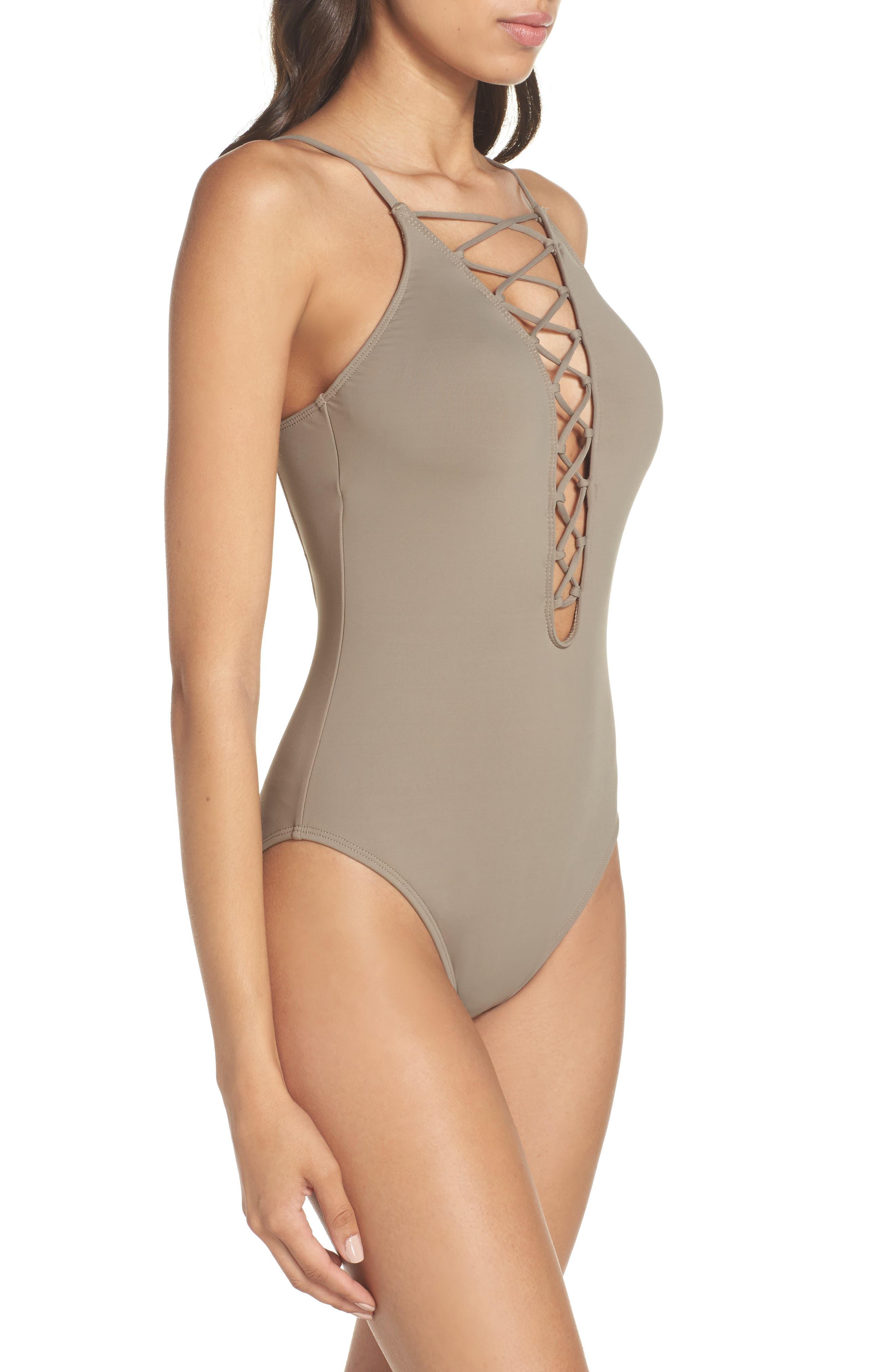 Alternate Image 3  - La Blanca Island Goddess One-Piece Swimsuit