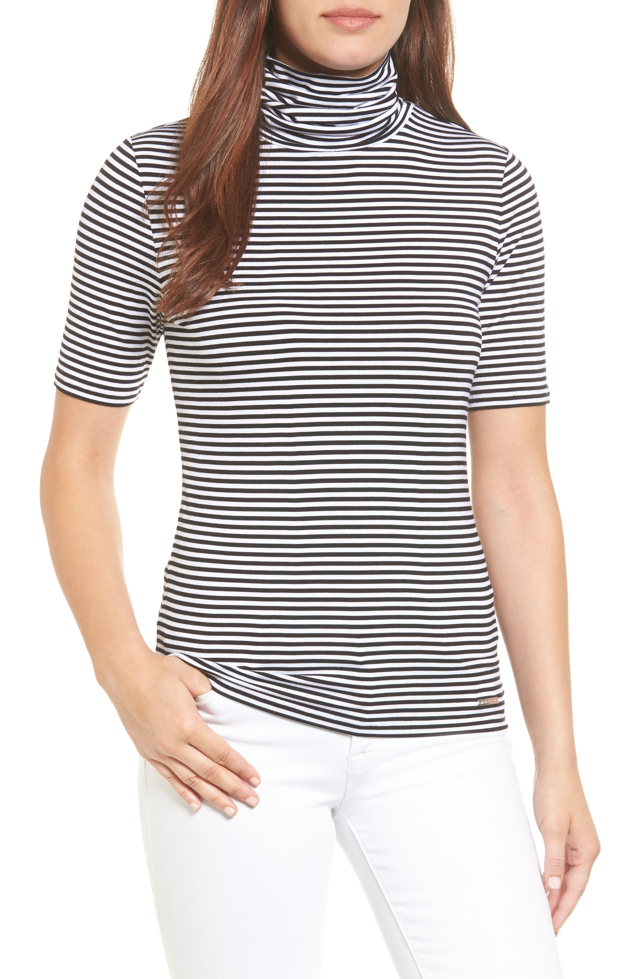 MICHAEL MICHAEL KORS Stripe Turtleneck Top
