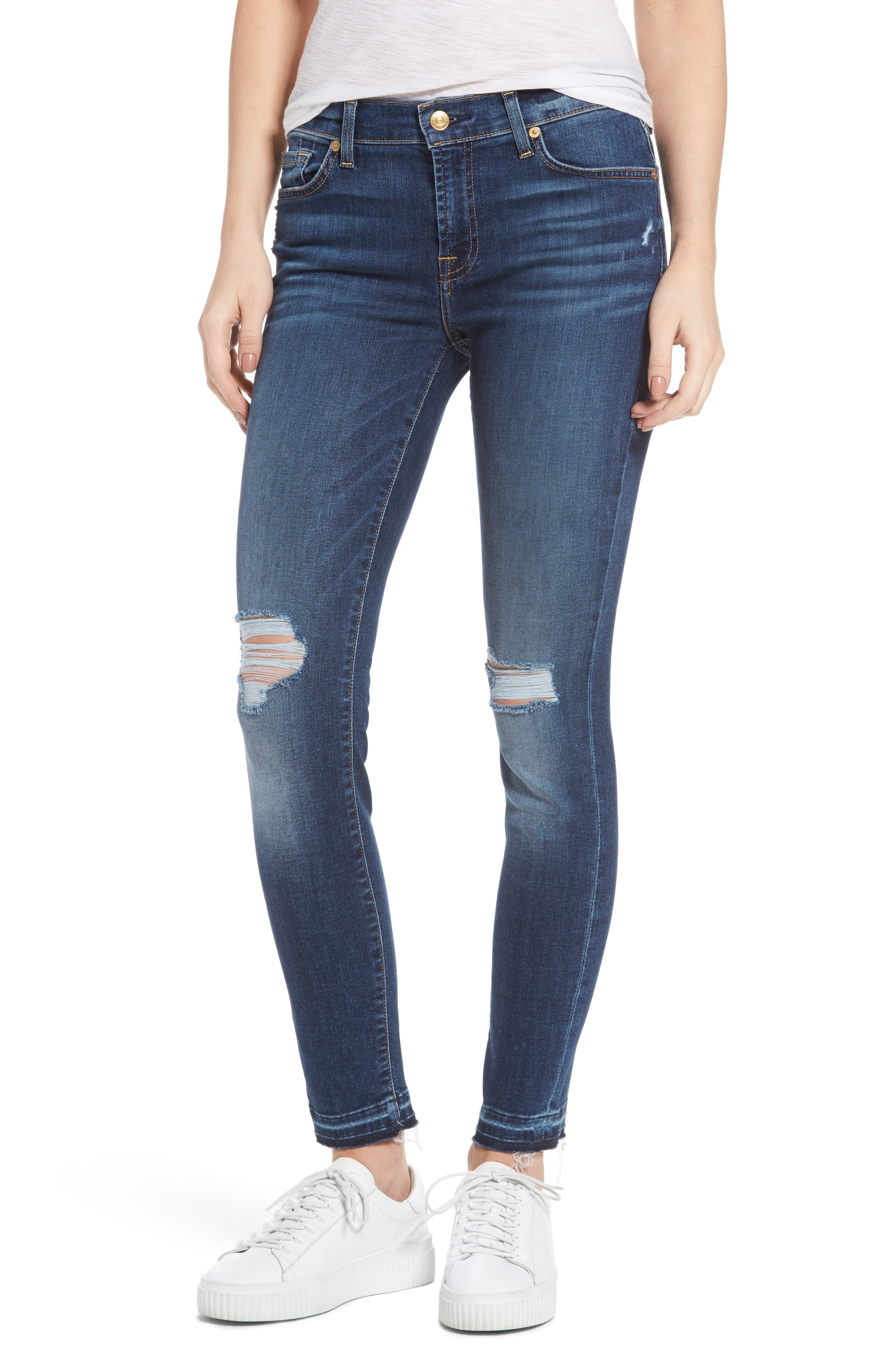 Main Image - 7 For All Mankind® Ankle Skinny Jeans (Stunning Bleeker)