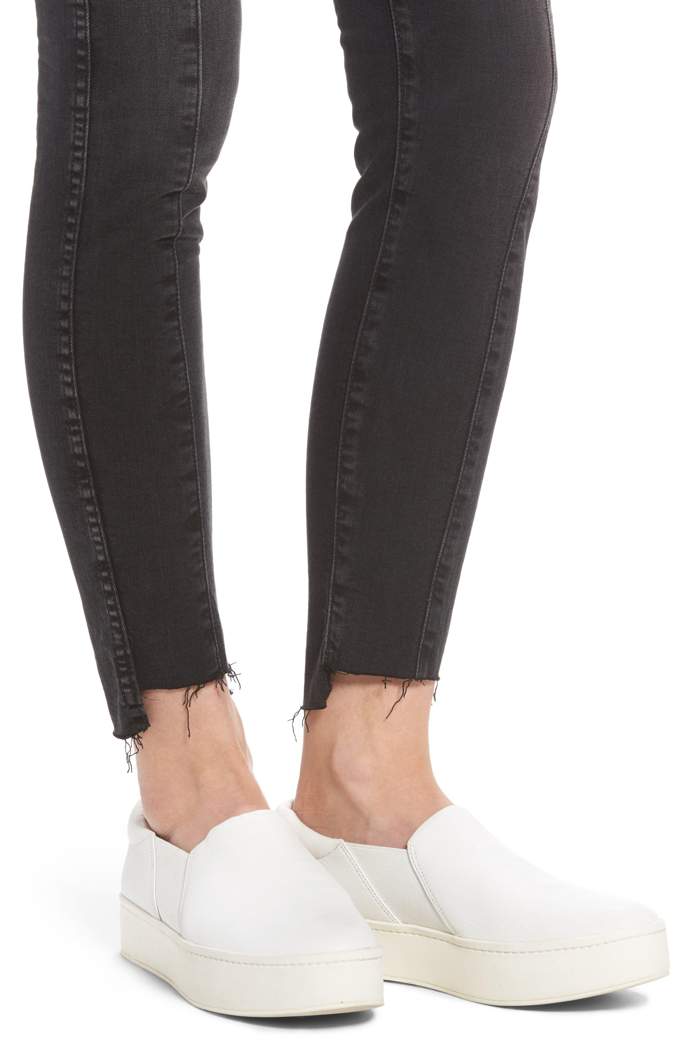 Alternate Image 5  - AG The Farrah High Waist Ankle Skinny Jeans (Thirteen)