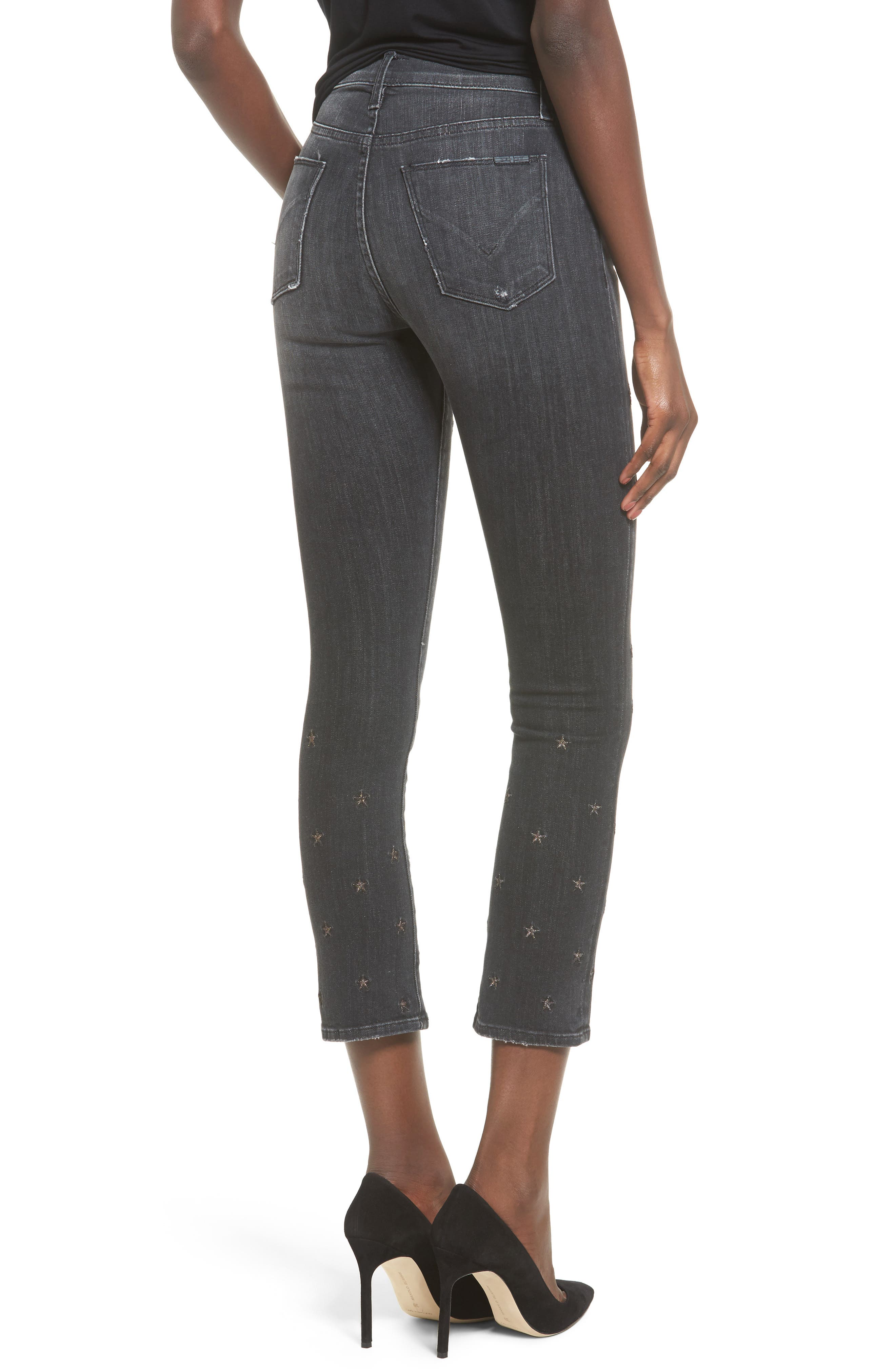 Hudson Harper High Waist Crop Baby Boot Jeans,                             Alternate thumbnail 2, color,                             Night Star
