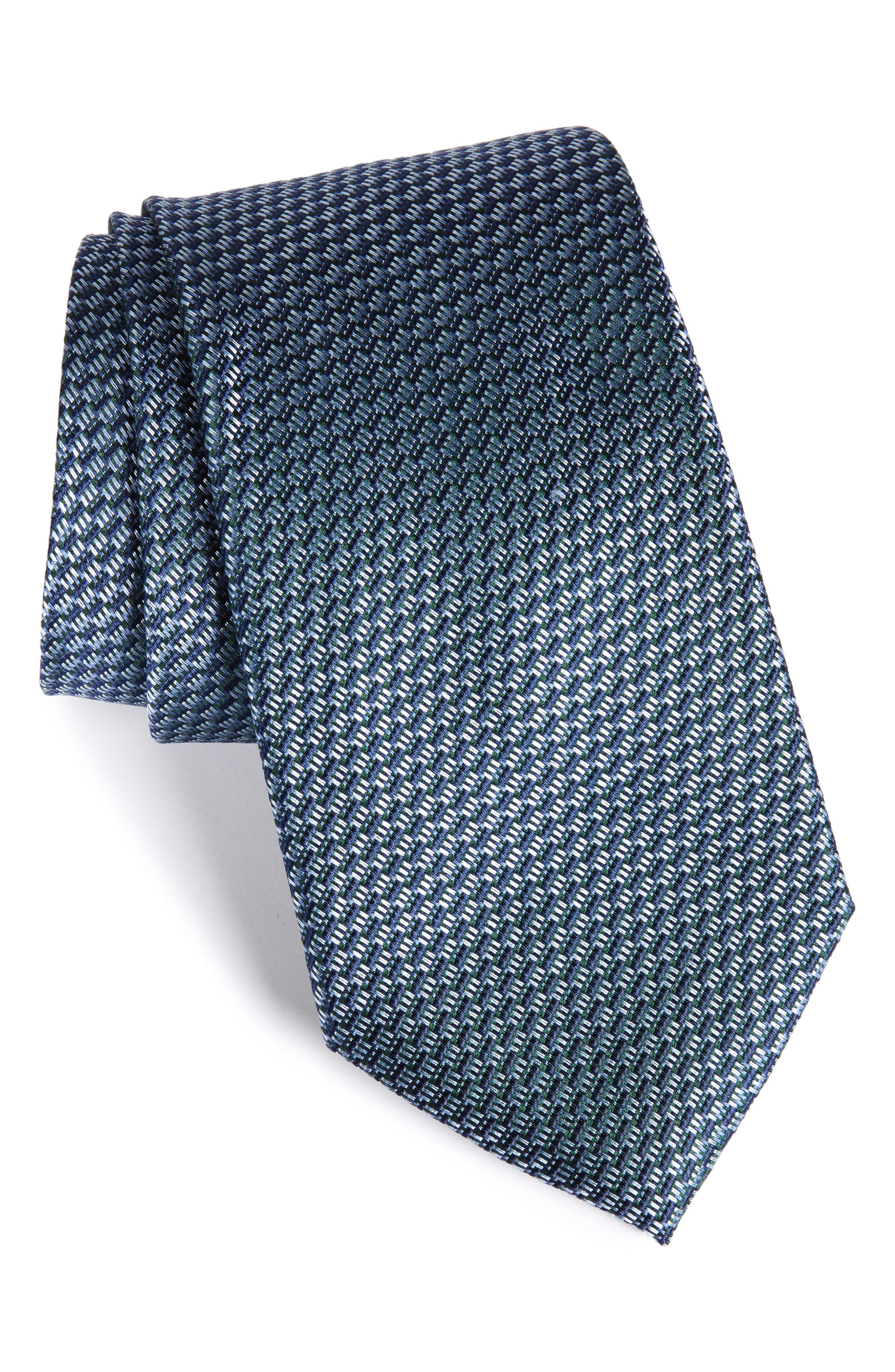 Nordstrom Tech Woven Silk Tie (X-Long)