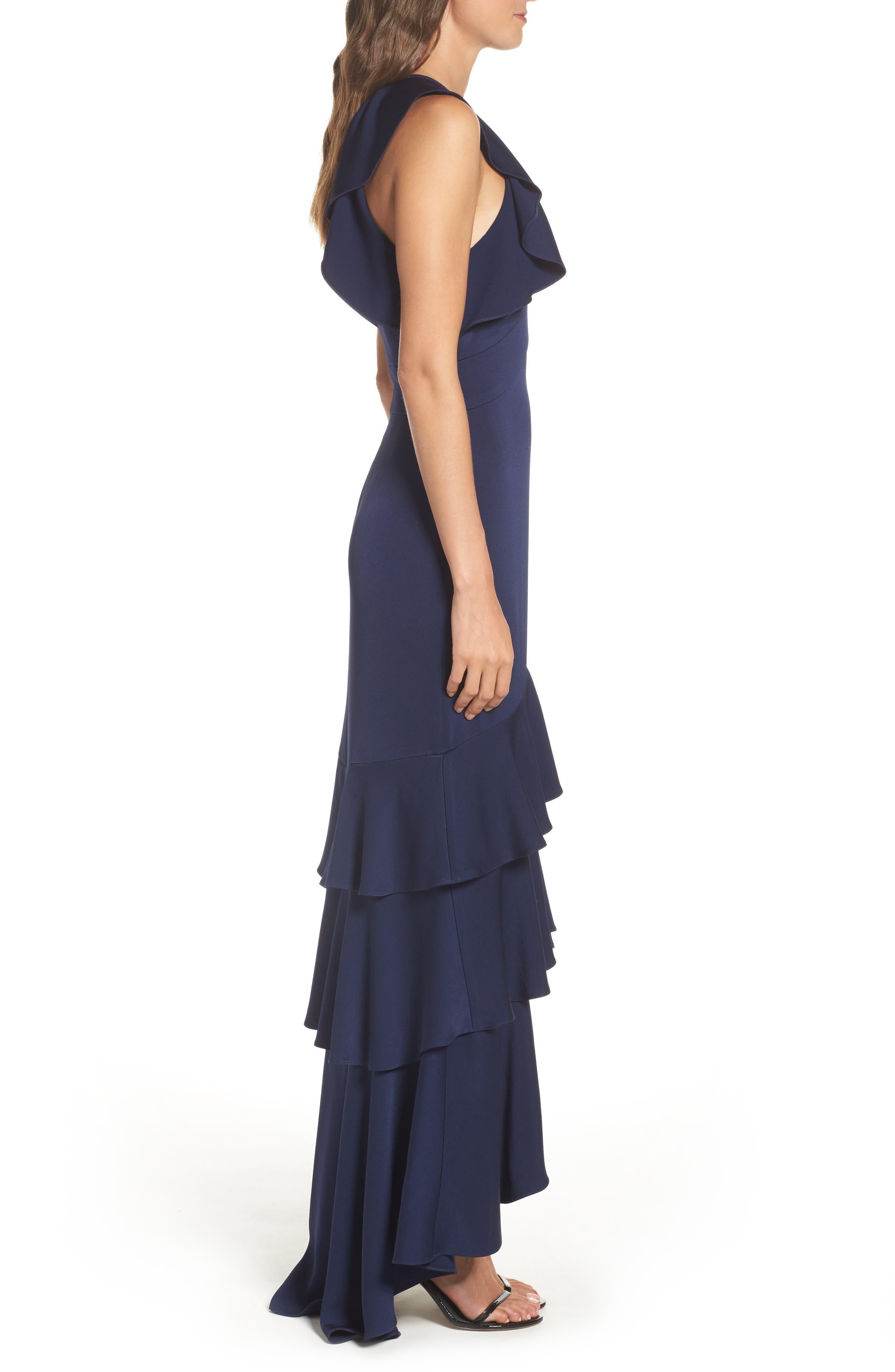 Alternate Image 3  - Shoshanna Daviot Ruffle Tiered Gown