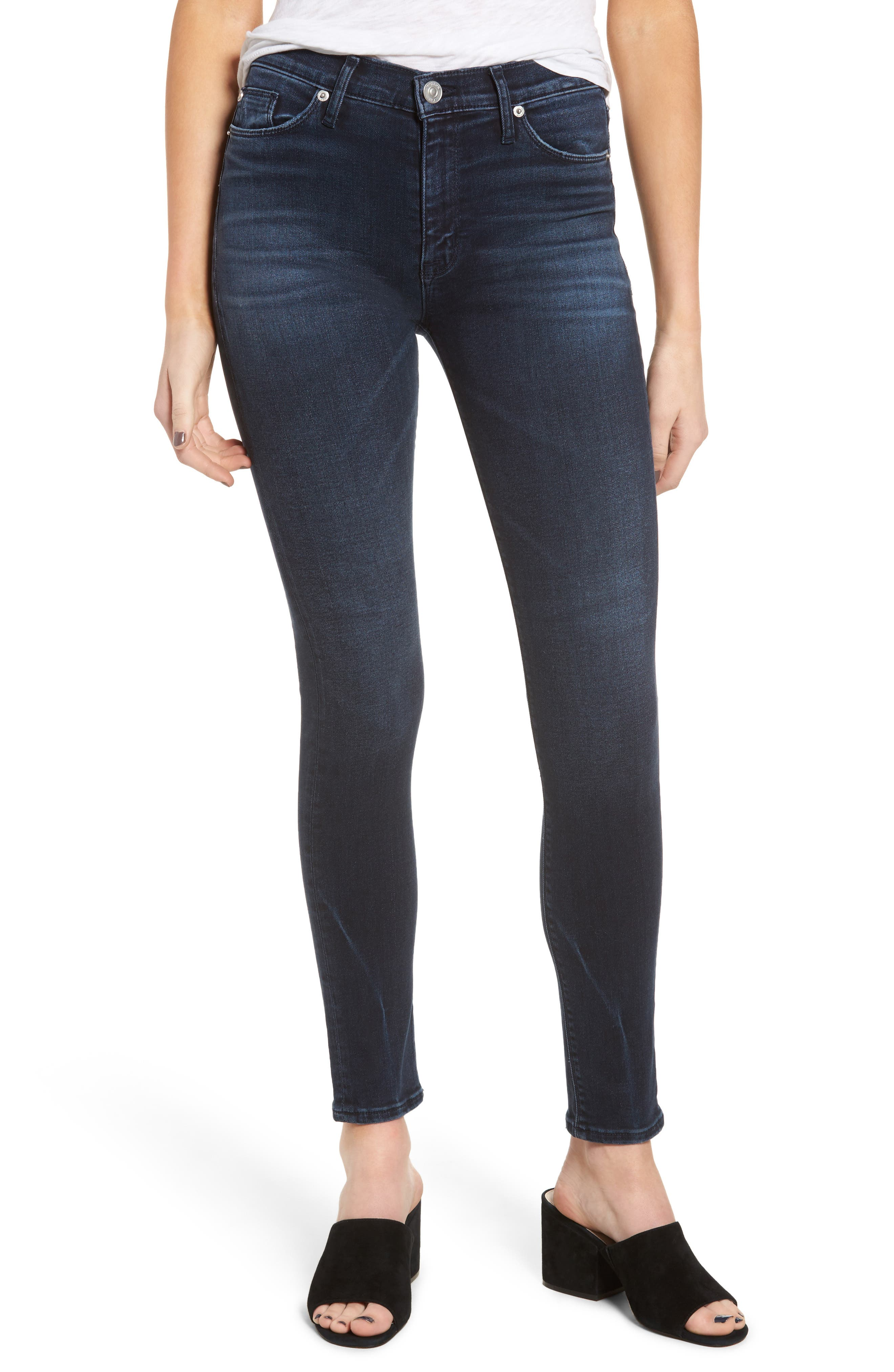 Hudson Barbara High Waist Super Skinny Jeans,                             Main thumbnail 1, color,                             Night Ryder