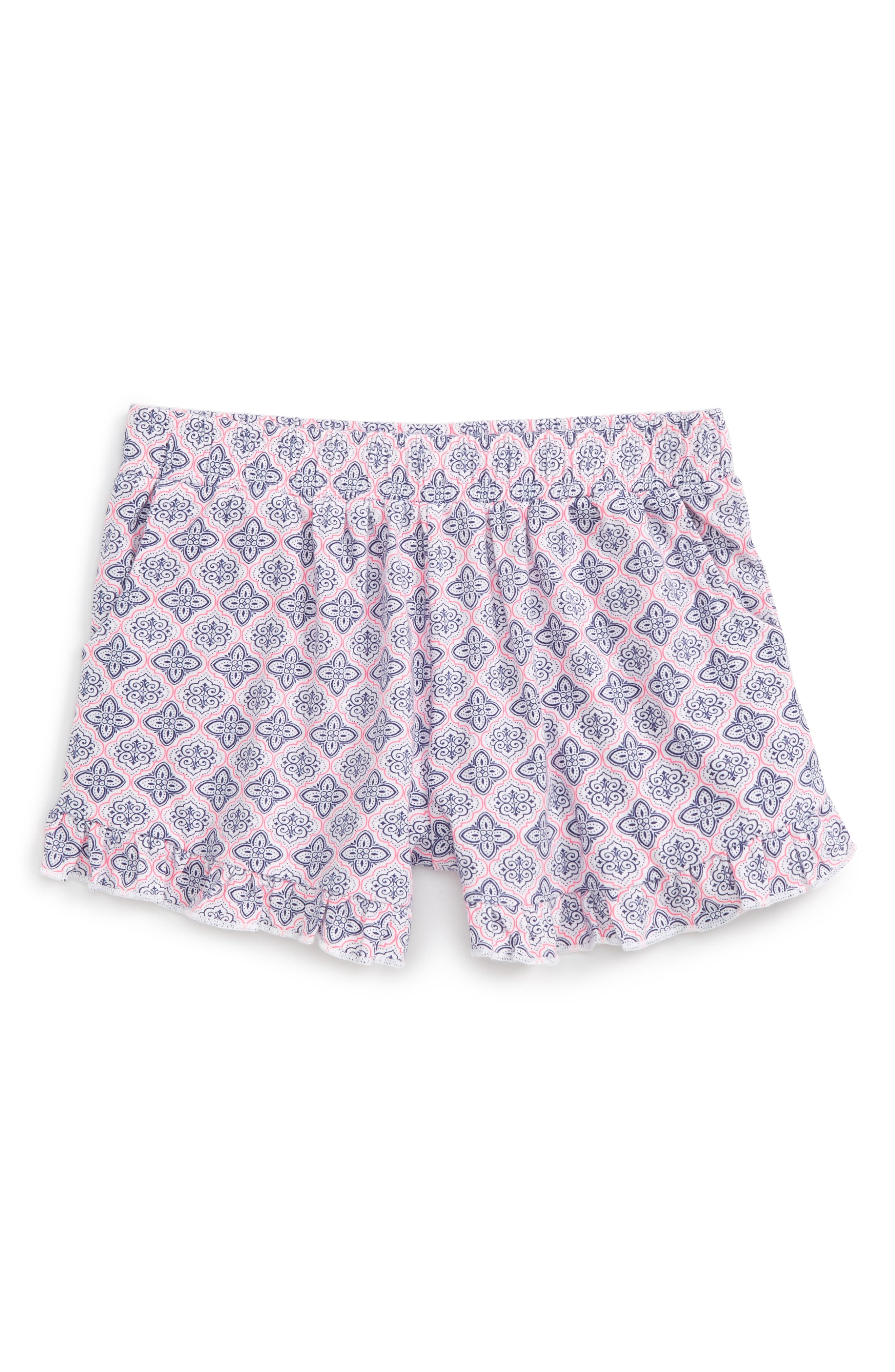 Main Image - Tucker + Tate Print Ruffle Shorts (Toddler Girls, Little Girls & Big Girls)