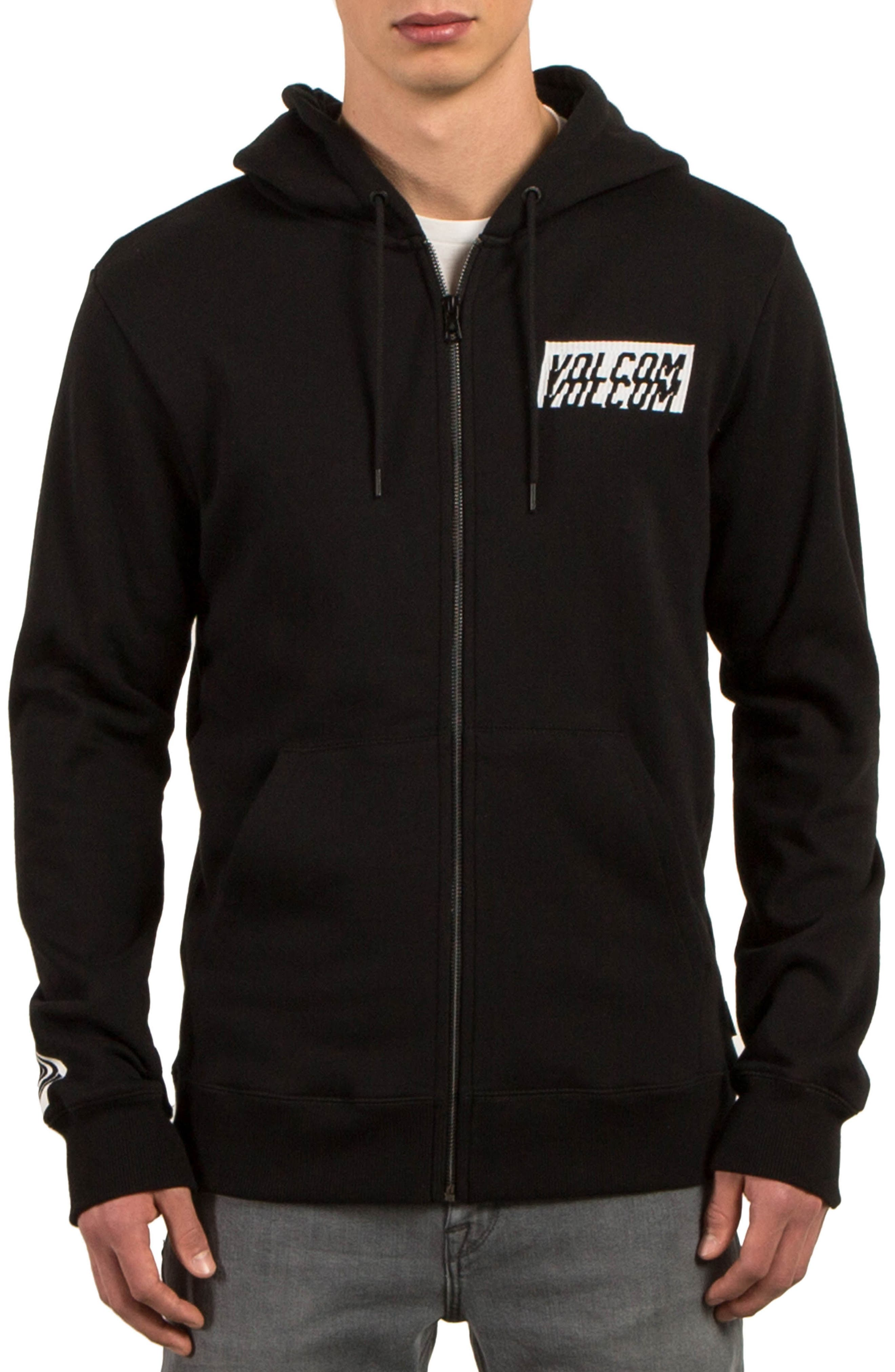 Supply Stone Graphic Zip Hoodie,                         Main,                         color, Black