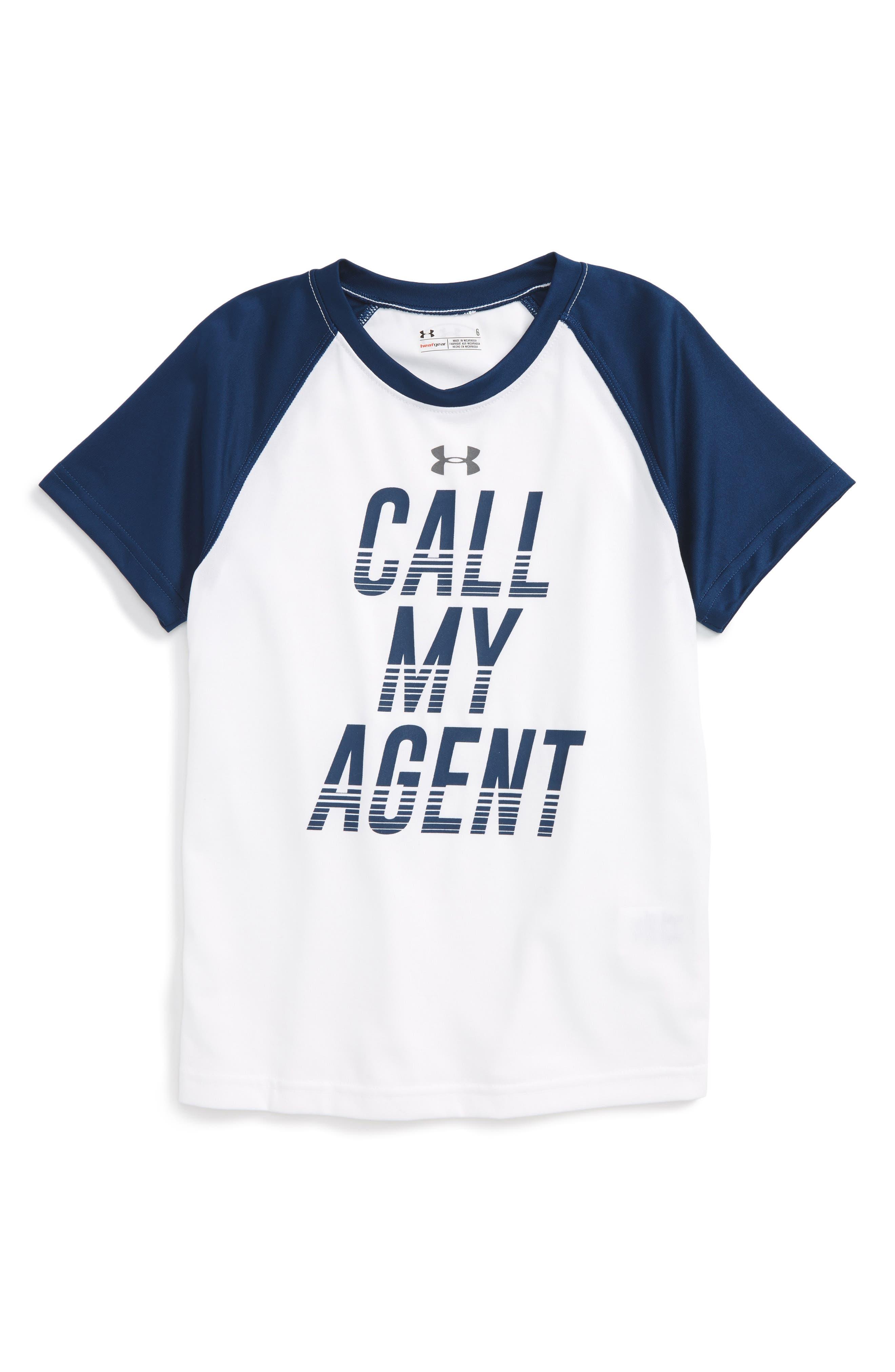 Under Armour HeatGear® Call My Agent Graphic T-Shirt (Toddler Boys & Little Boys)