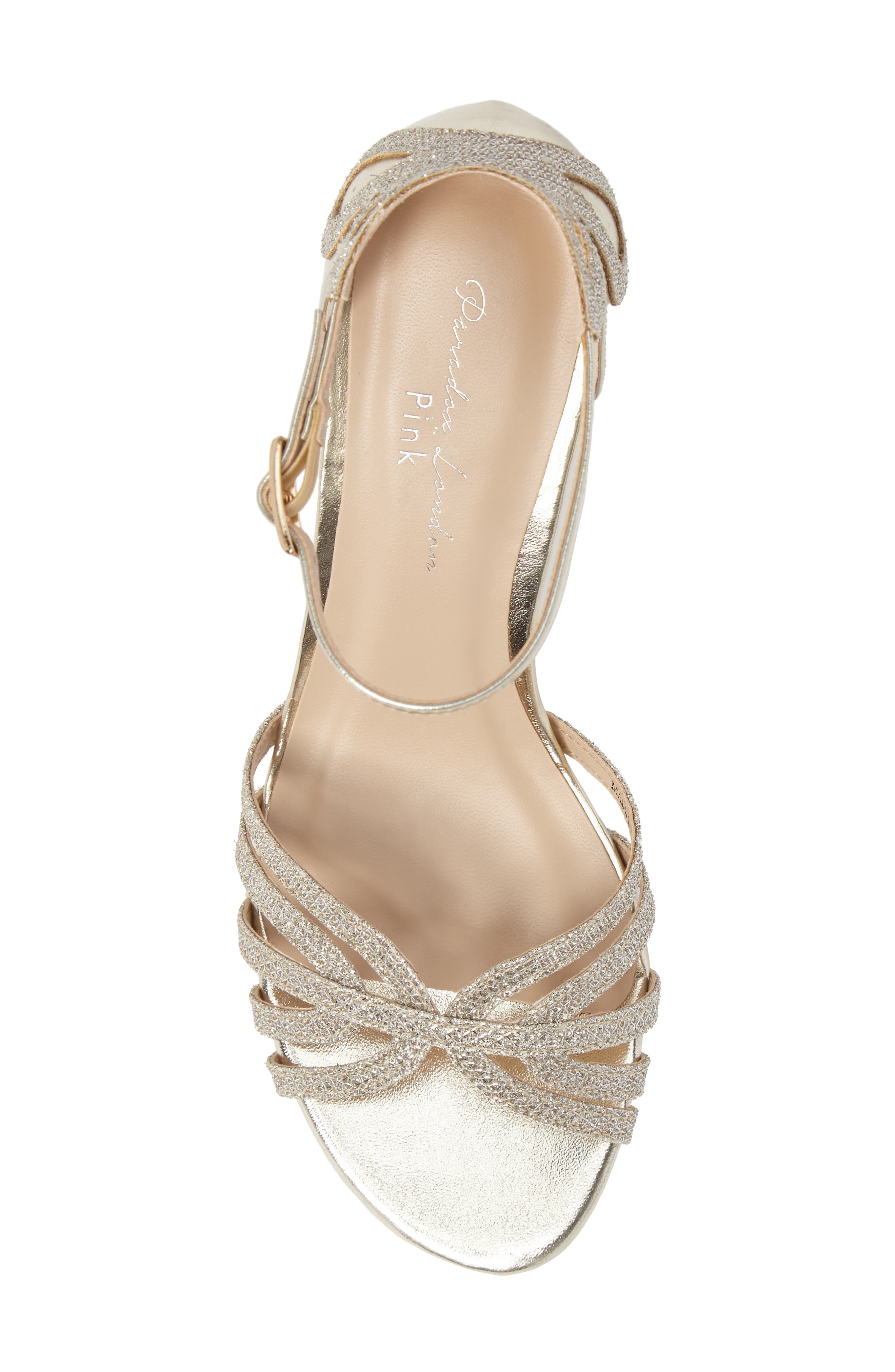 Melby Ankle Strap Sandal,                             Alternate thumbnail 5, color,                             Champagne
