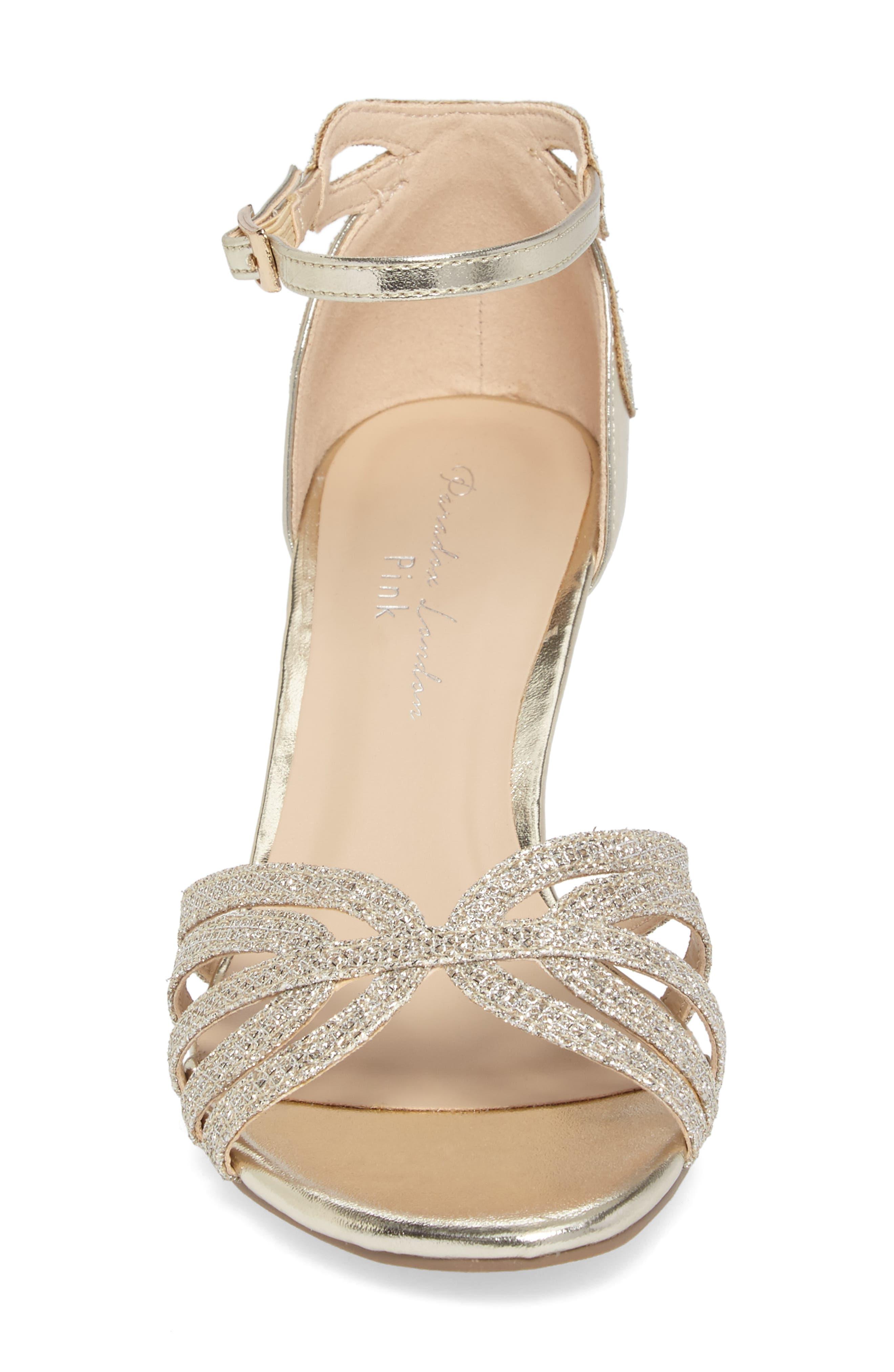 Melby Ankle Strap Sandal,                             Alternate thumbnail 4, color,                             Champagne
