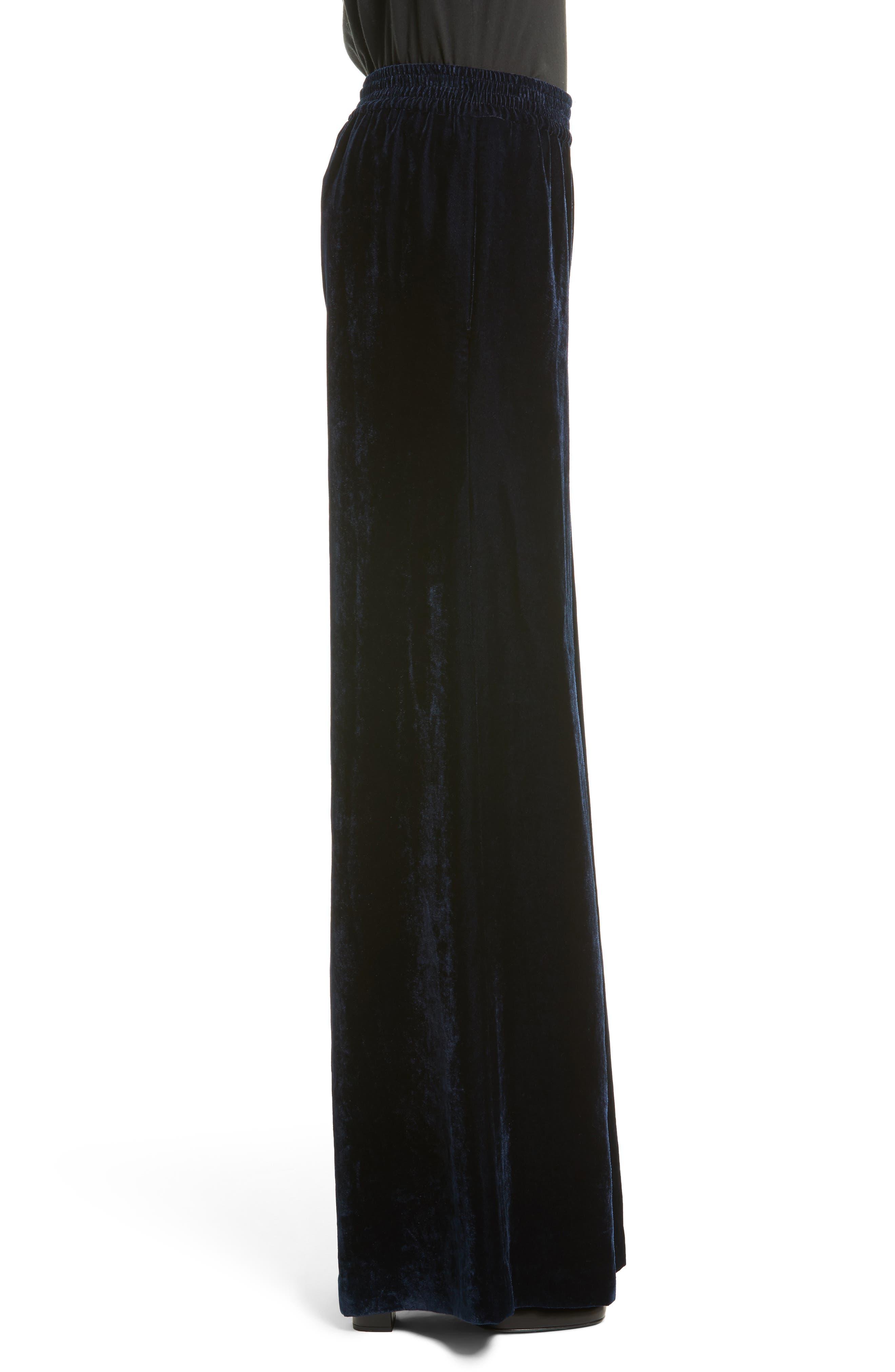 Alternate Image 3  - Nili Lotan Harlow Sandwashed Velvet Pants