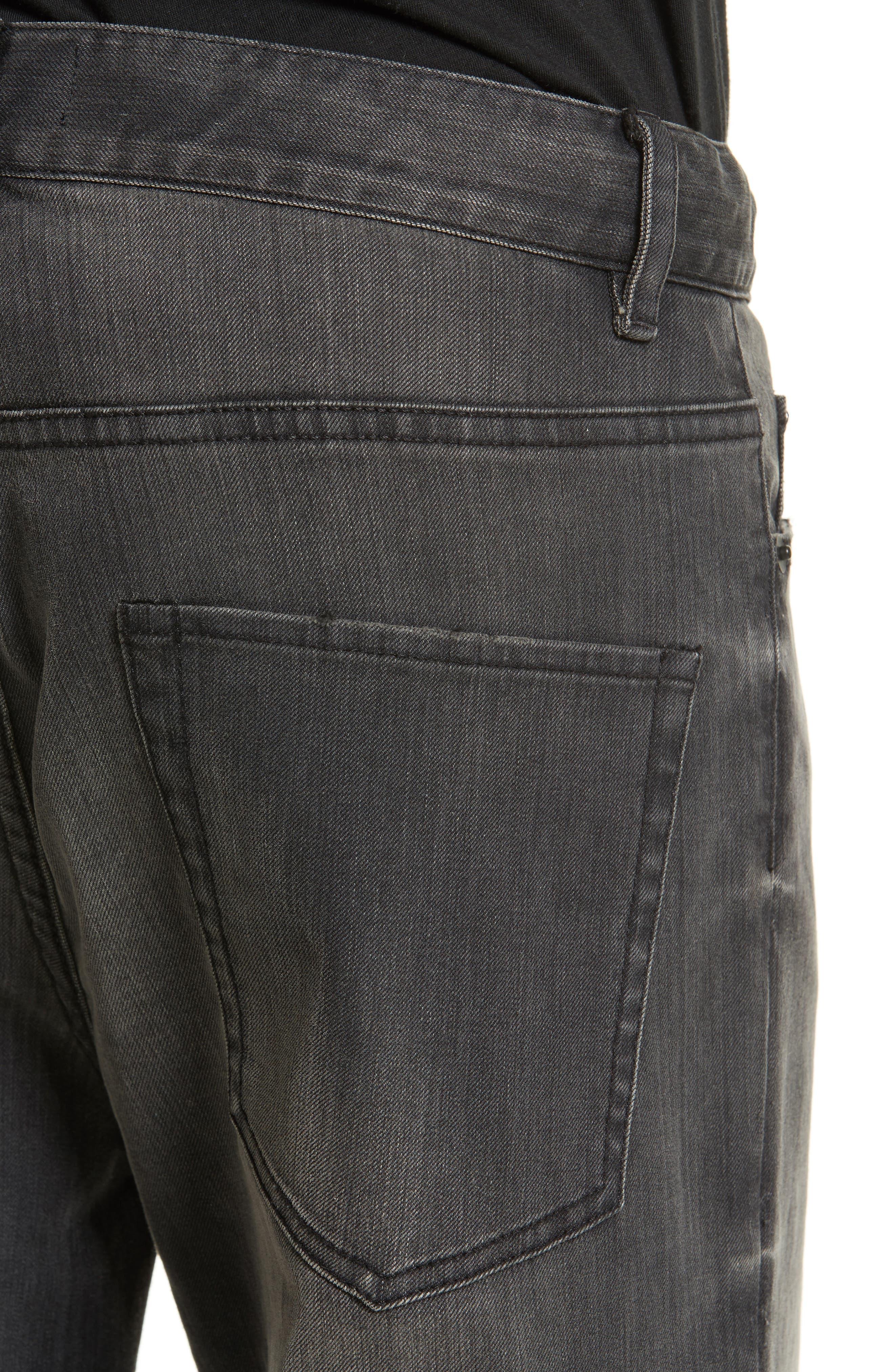 Alternate Image 4  - Nili Lotan Ena Side Button Detail Wide Leg Jeans