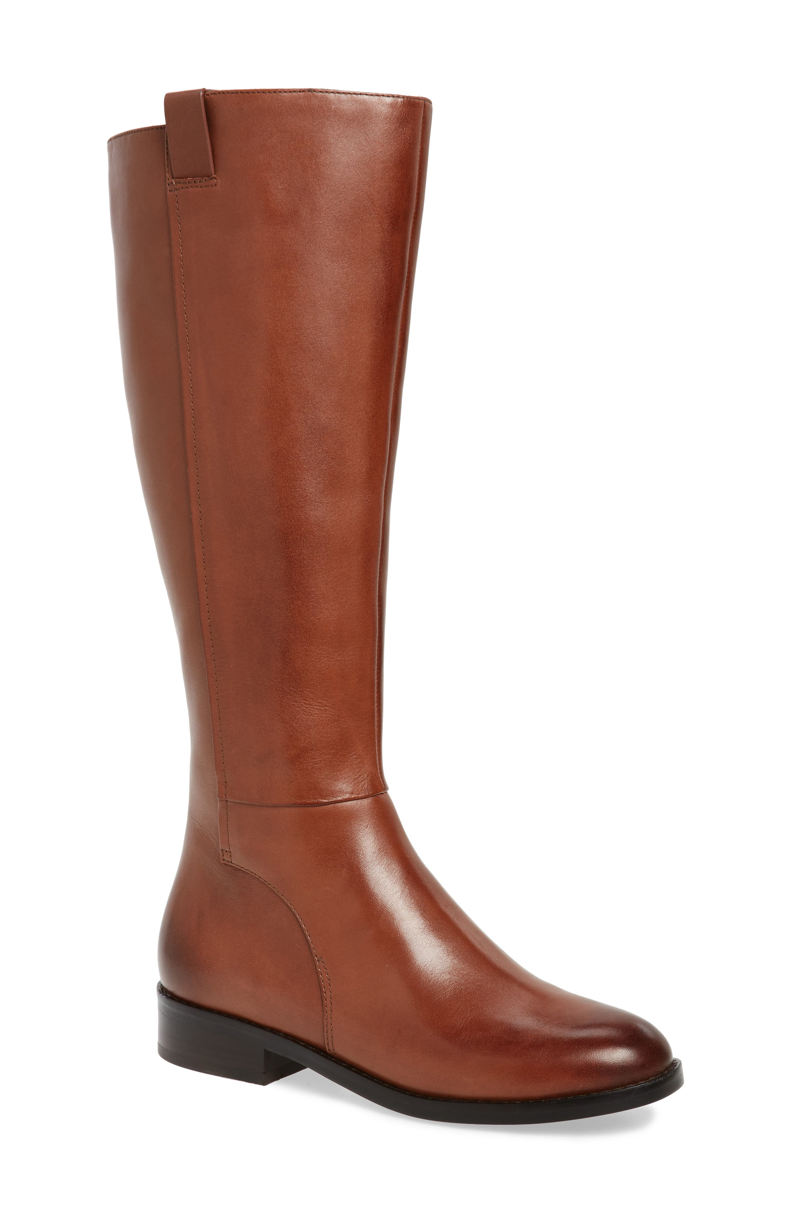 Katrina Riding Boot,                             Main thumbnail 1, color,                             Harvest Brown Leather
