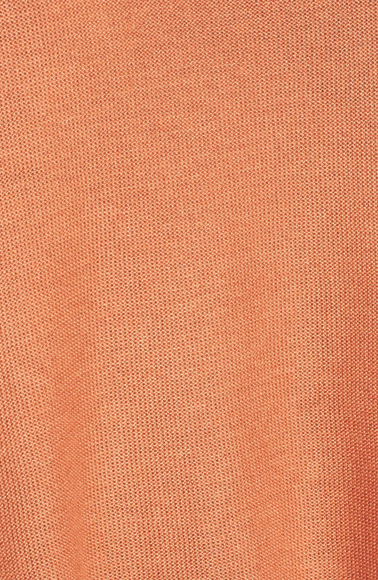 Tencel<sup>®</sup> & Merino Wool Top,                             Alternate thumbnail 5, color,                             Pumpkin
