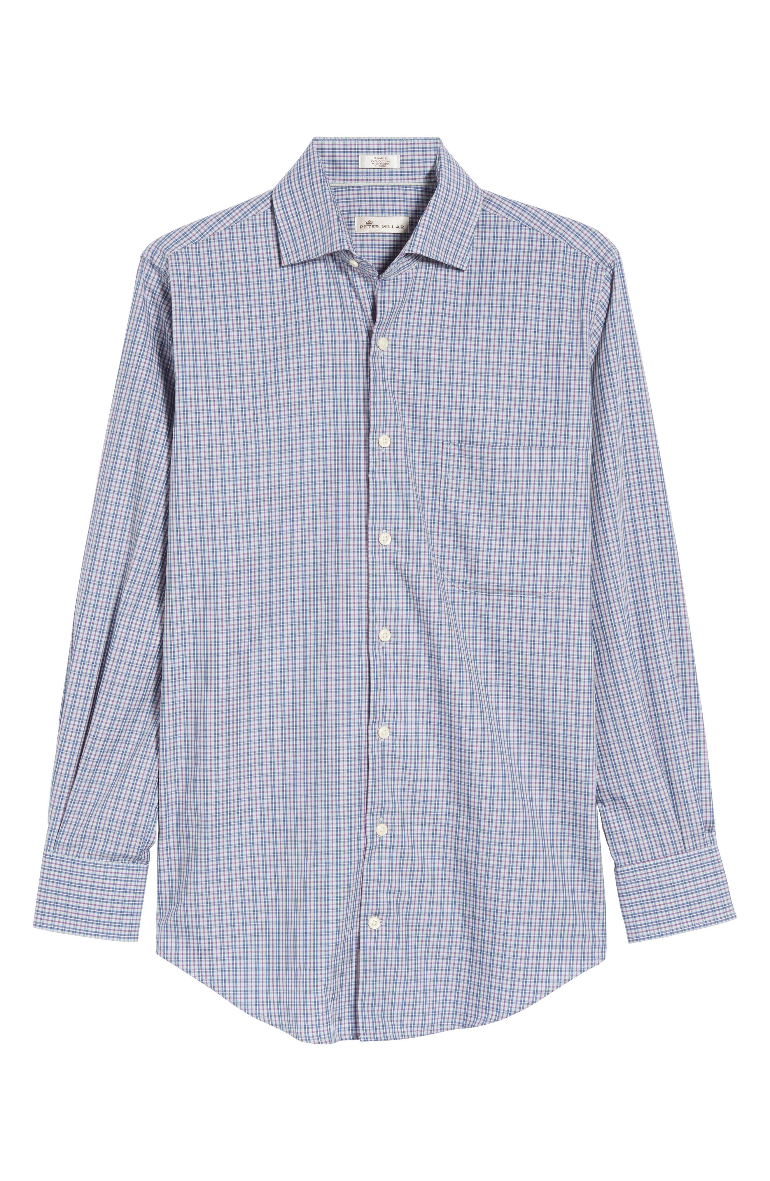 Hillock Plaid Regular Fit Sport Shirt,                             Alternate thumbnail 6, color,                             Stingray