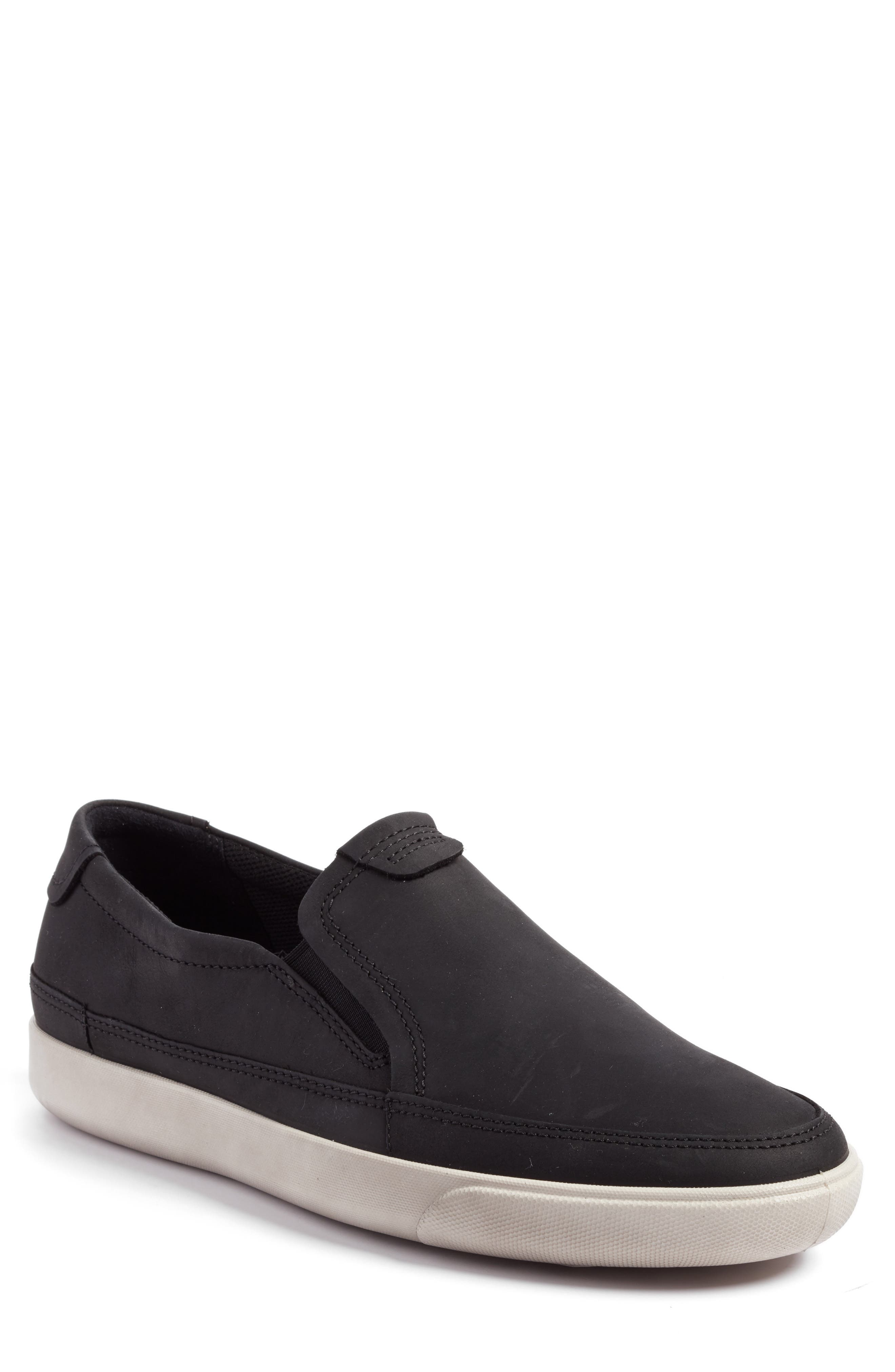 'Gary' Slip-On,                             Main thumbnail 1, color,                             Black Leather