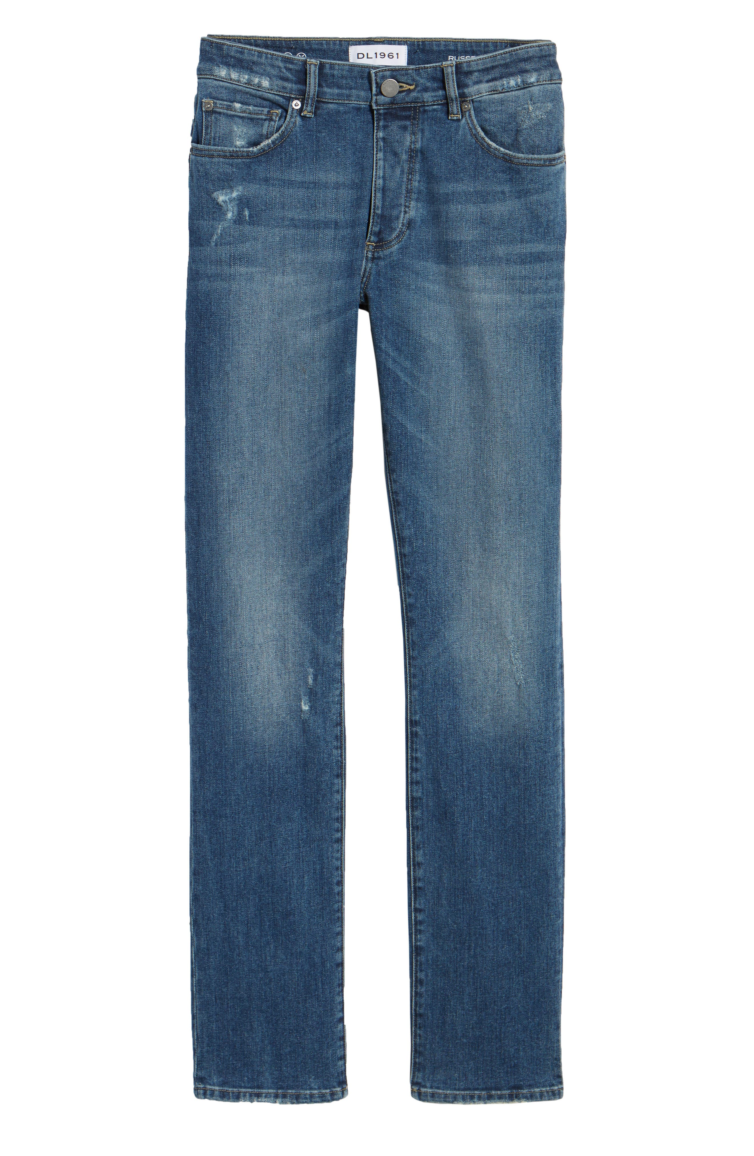 Russell Slim Straight Fit Jeans,                             Alternate thumbnail 6, color,                             Twine
