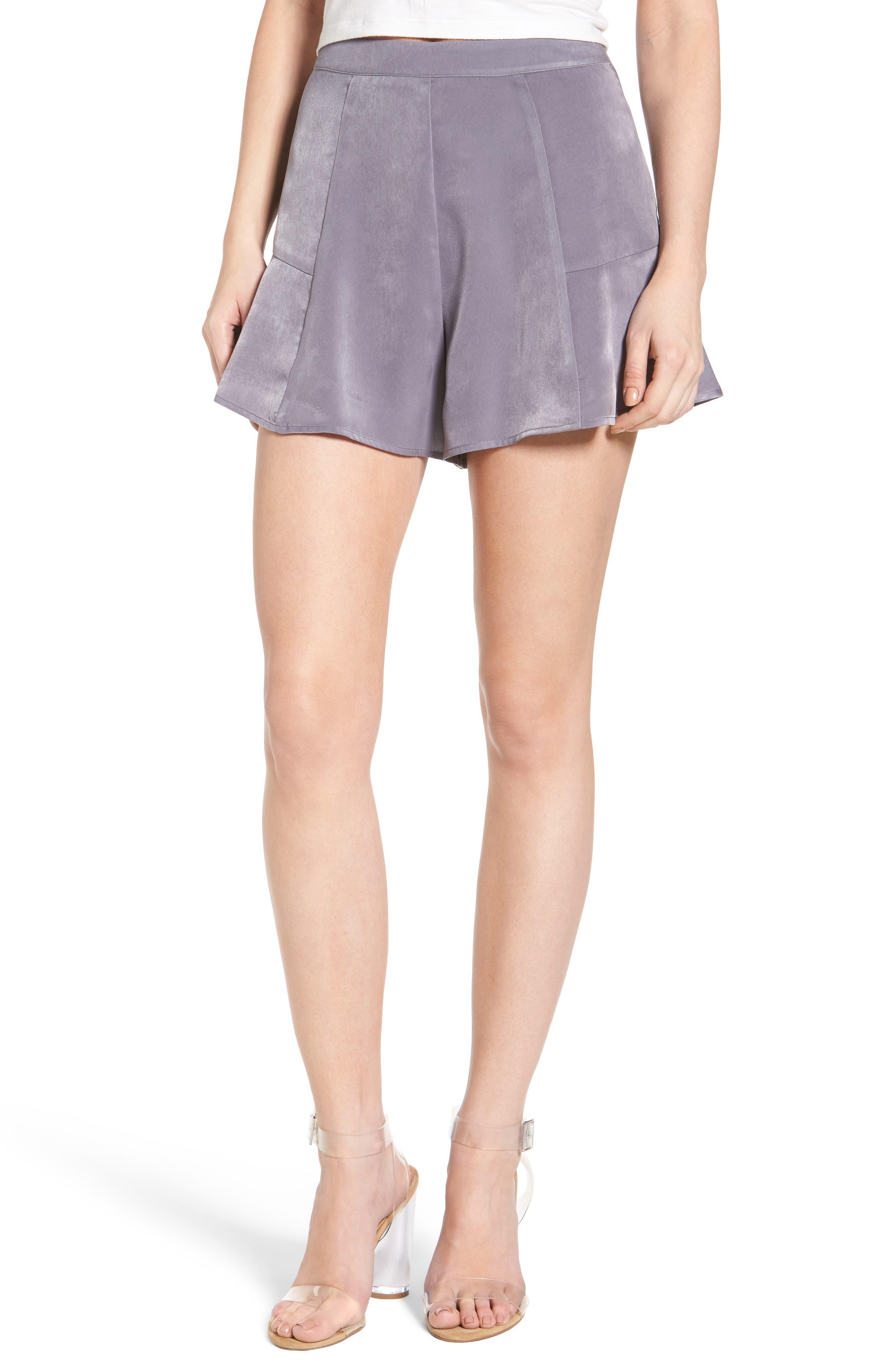 ASTR the Label High Waist Satin Shorts