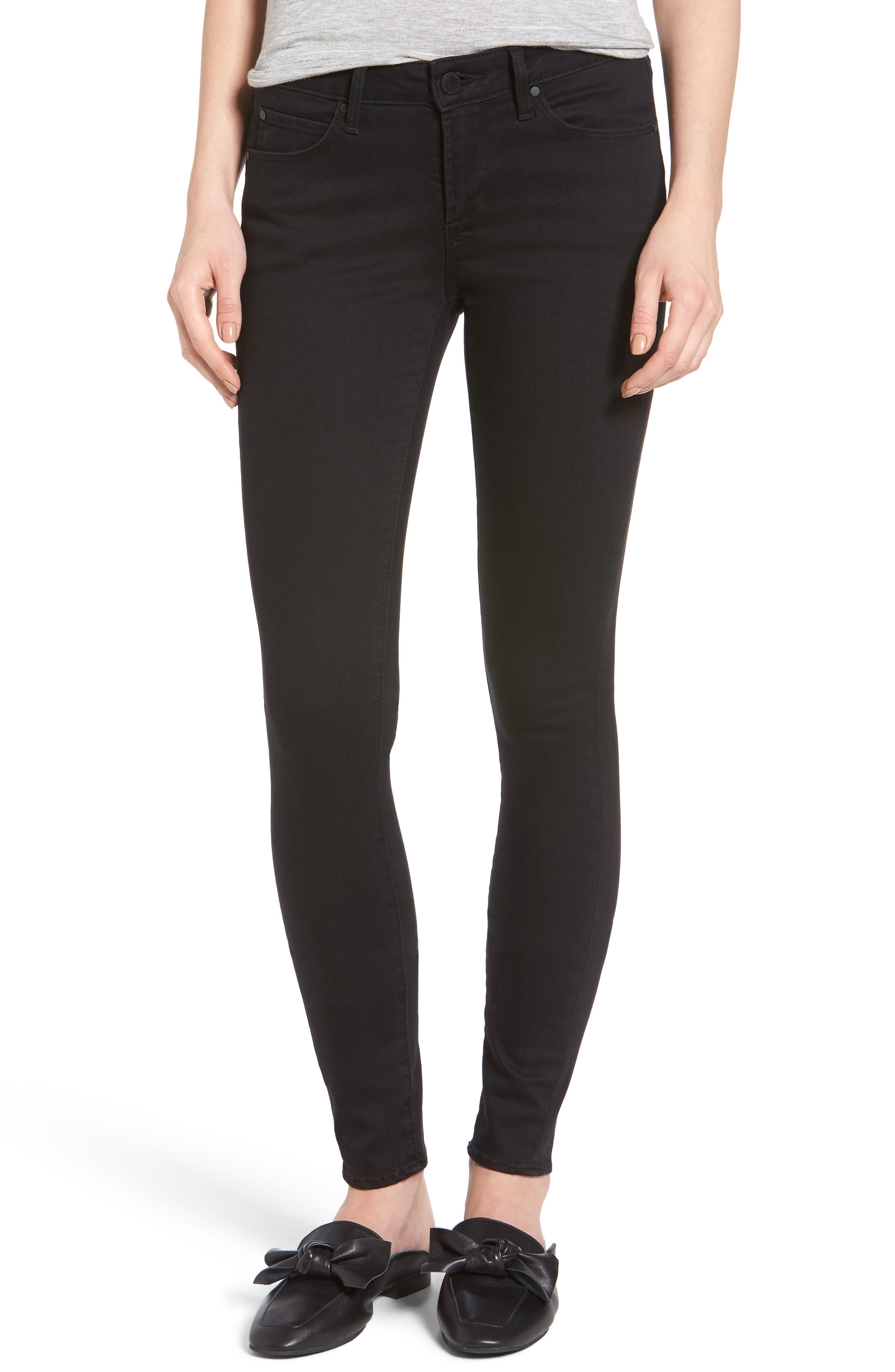 Main Image - Articles of Society Mya Ankle Skinny Jeans (Blackhawk)