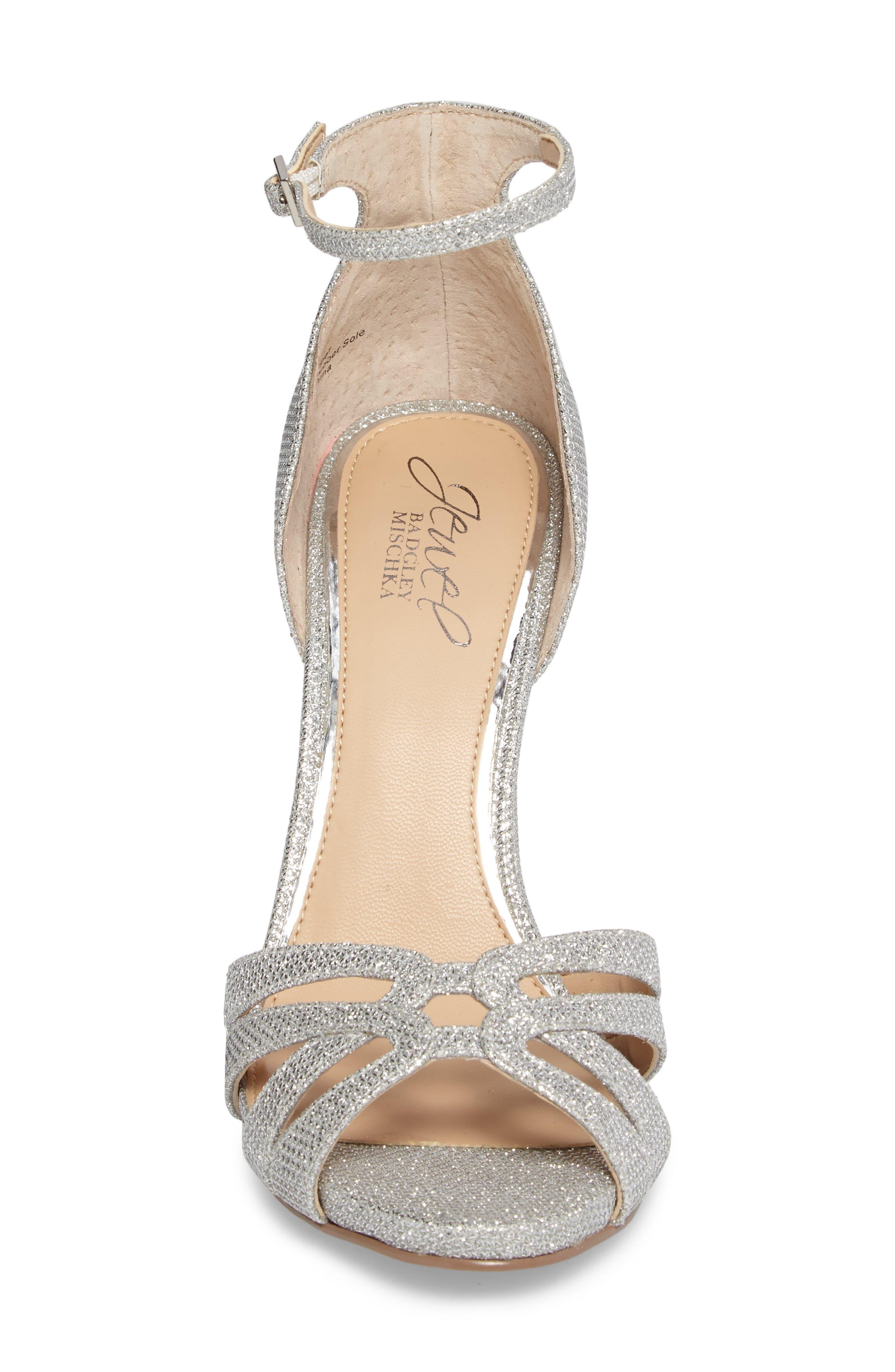 Alternate Image 4  - Jewel Badgley Mischka Loyal Glitter Sandal (Women)