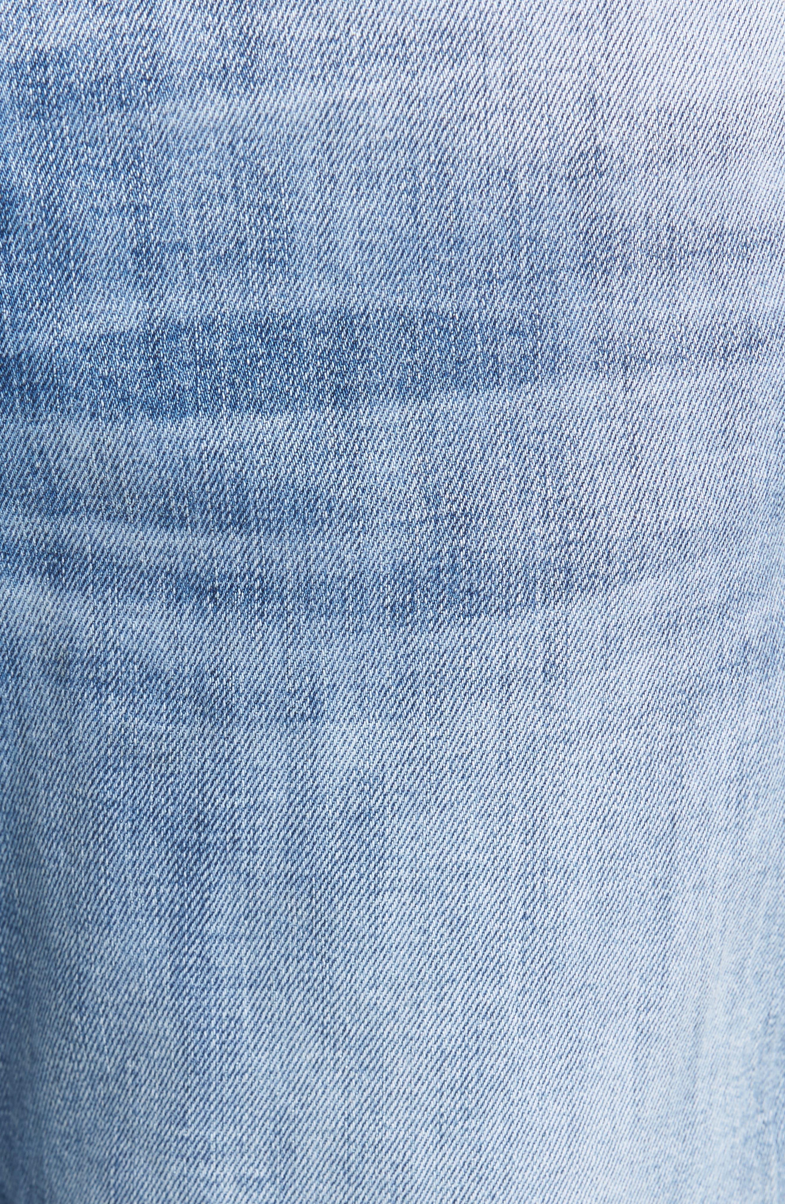 Vaughn Biker Skinny Fit Jeans,                             Alternate thumbnail 5, color,                             No Remorse