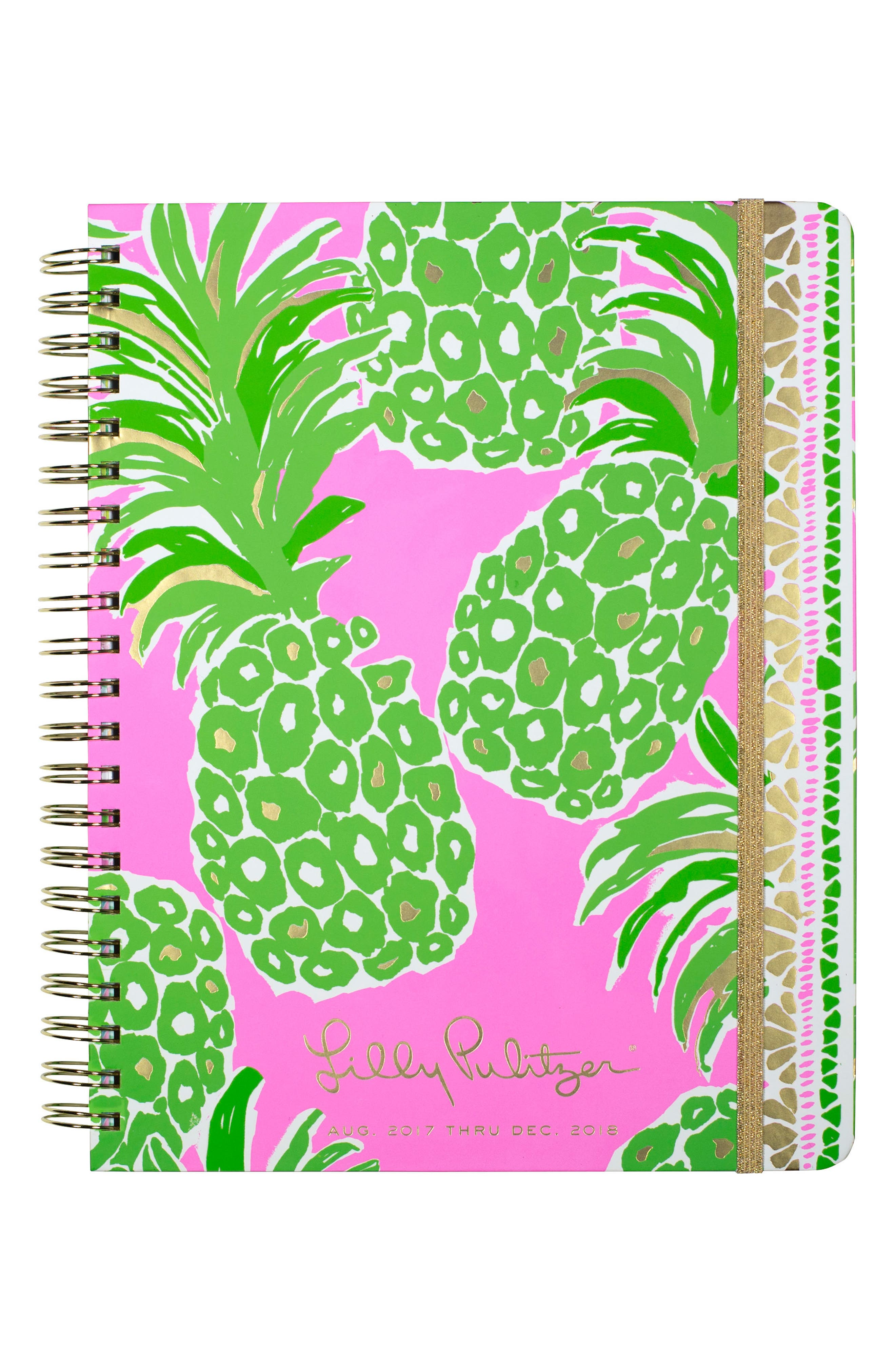 Jumbo 17-Month Agenda,                         Main,                         color, Flamenco Pink
