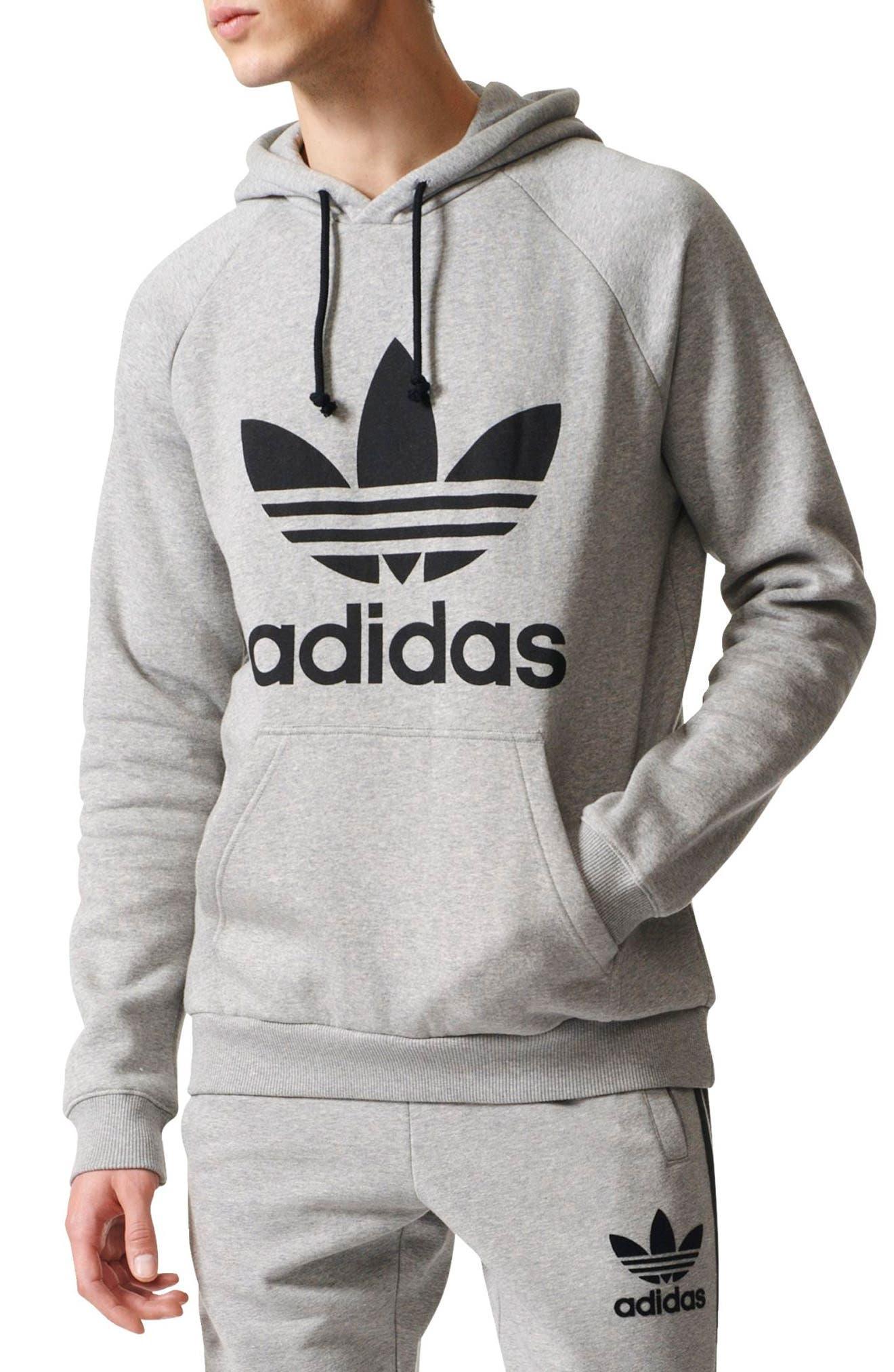 Alternate Image 1 Selected - adidas Originals Trefoil Graphic Hoodie
