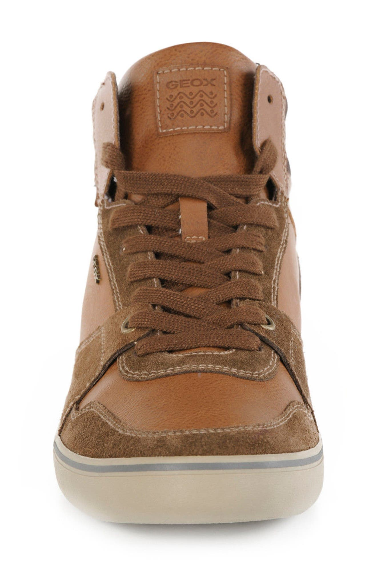 Box 30 High Top Sneaker,                             Alternate thumbnail 5, color,                             Ebony/ Brown Cotto