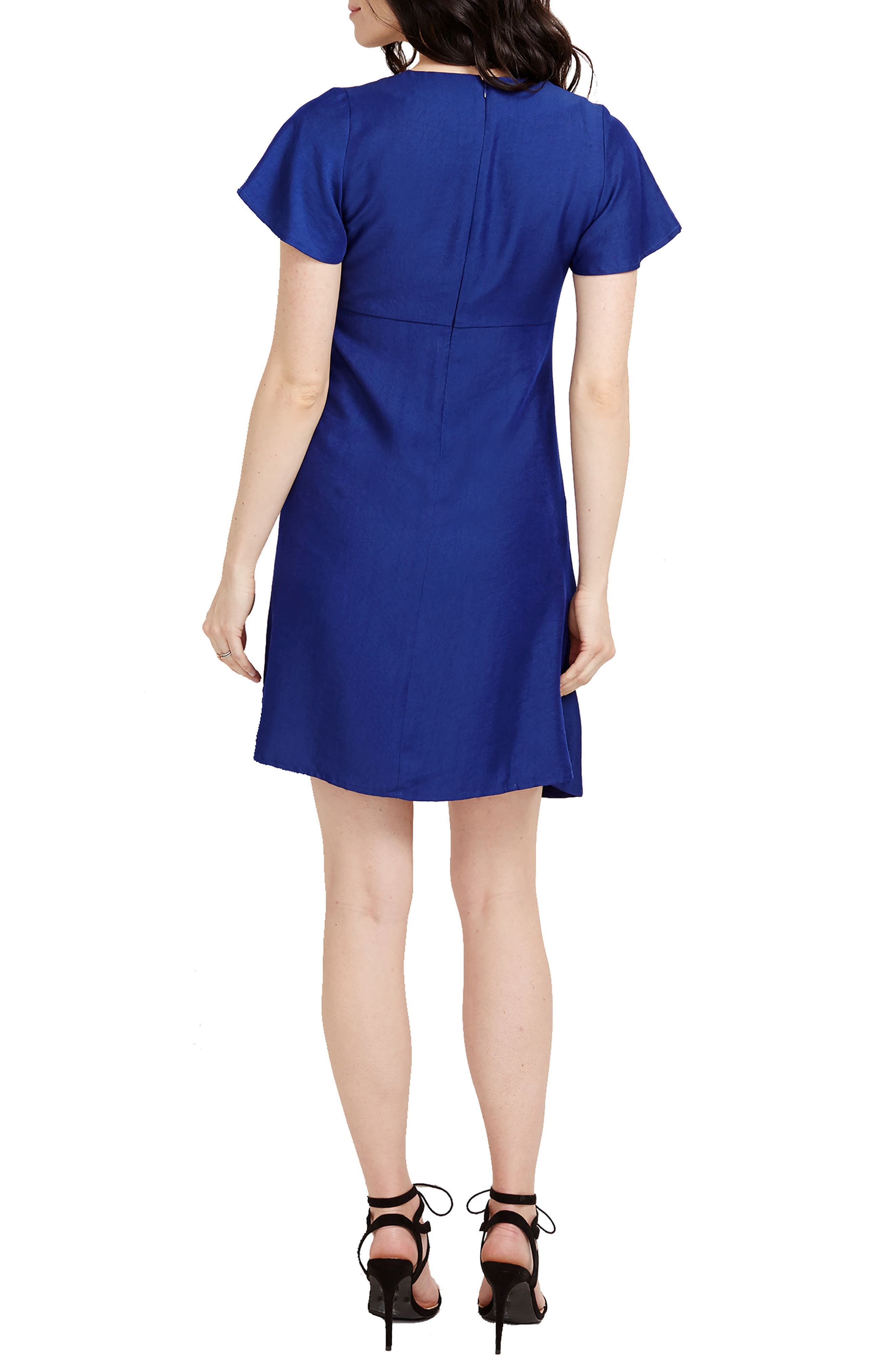 Grace Maternity Dress,                             Alternate thumbnail 2, color,                             Navy