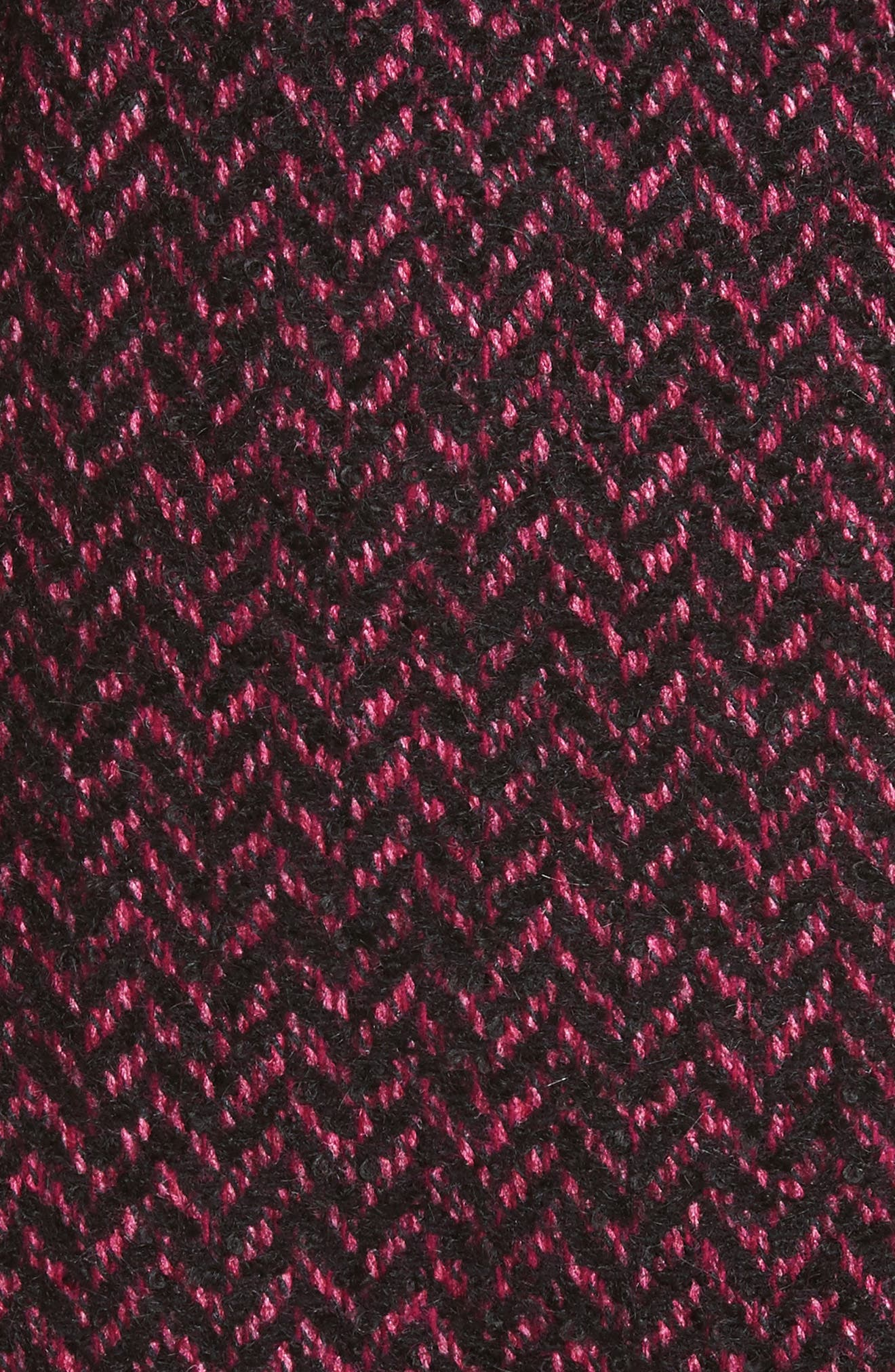 Herringbone Wool Blend A-Line Skirt,                             Alternate thumbnail 3, color,                             Magnolia/ Black