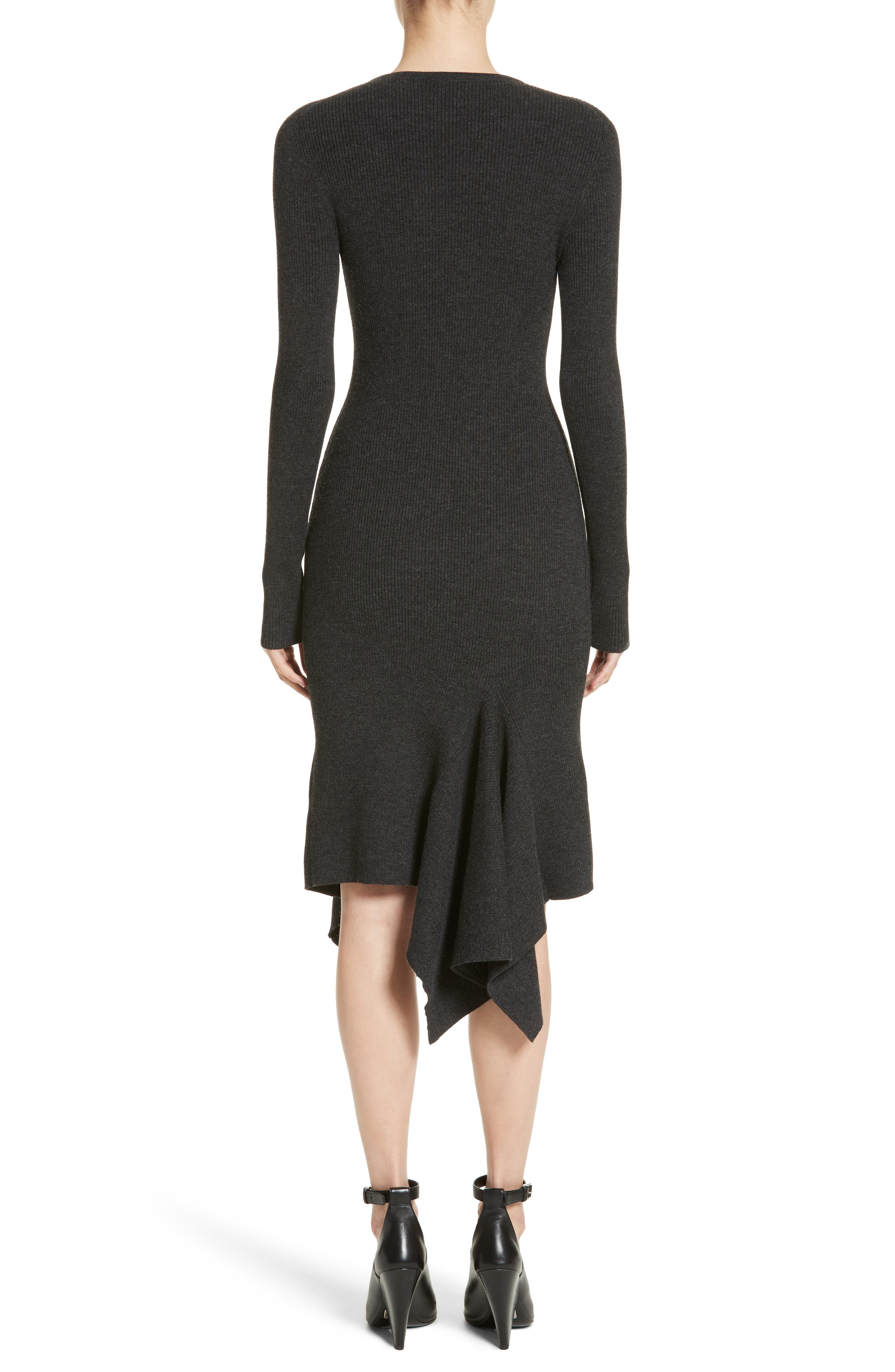 Alternate Image 2  - Michael Kors Merino Wool Blend Handkerchief Hem Dress