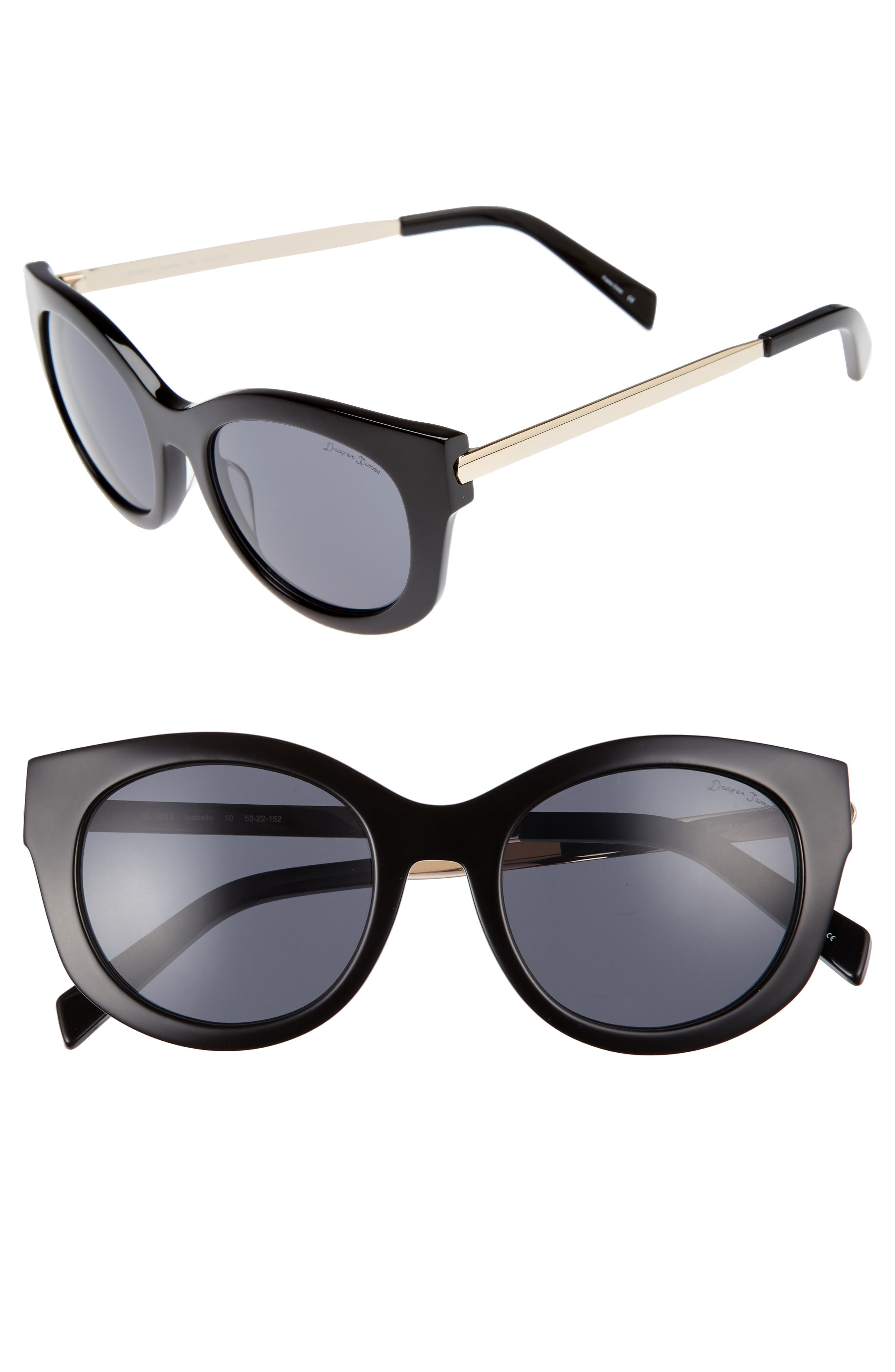 Draper James 53mm Modified Cat Eye Sunglasses