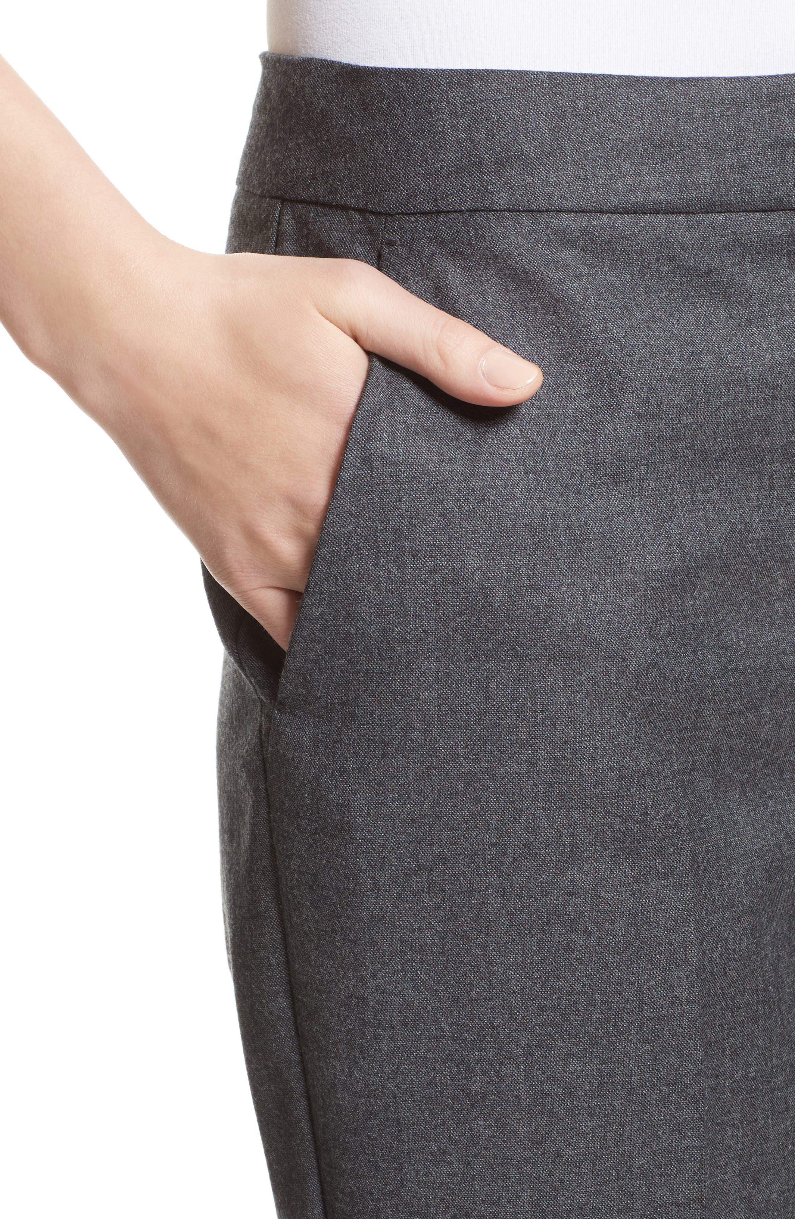 Pedone Wool Pants,                             Alternate thumbnail 6, color,                             Dark Grey