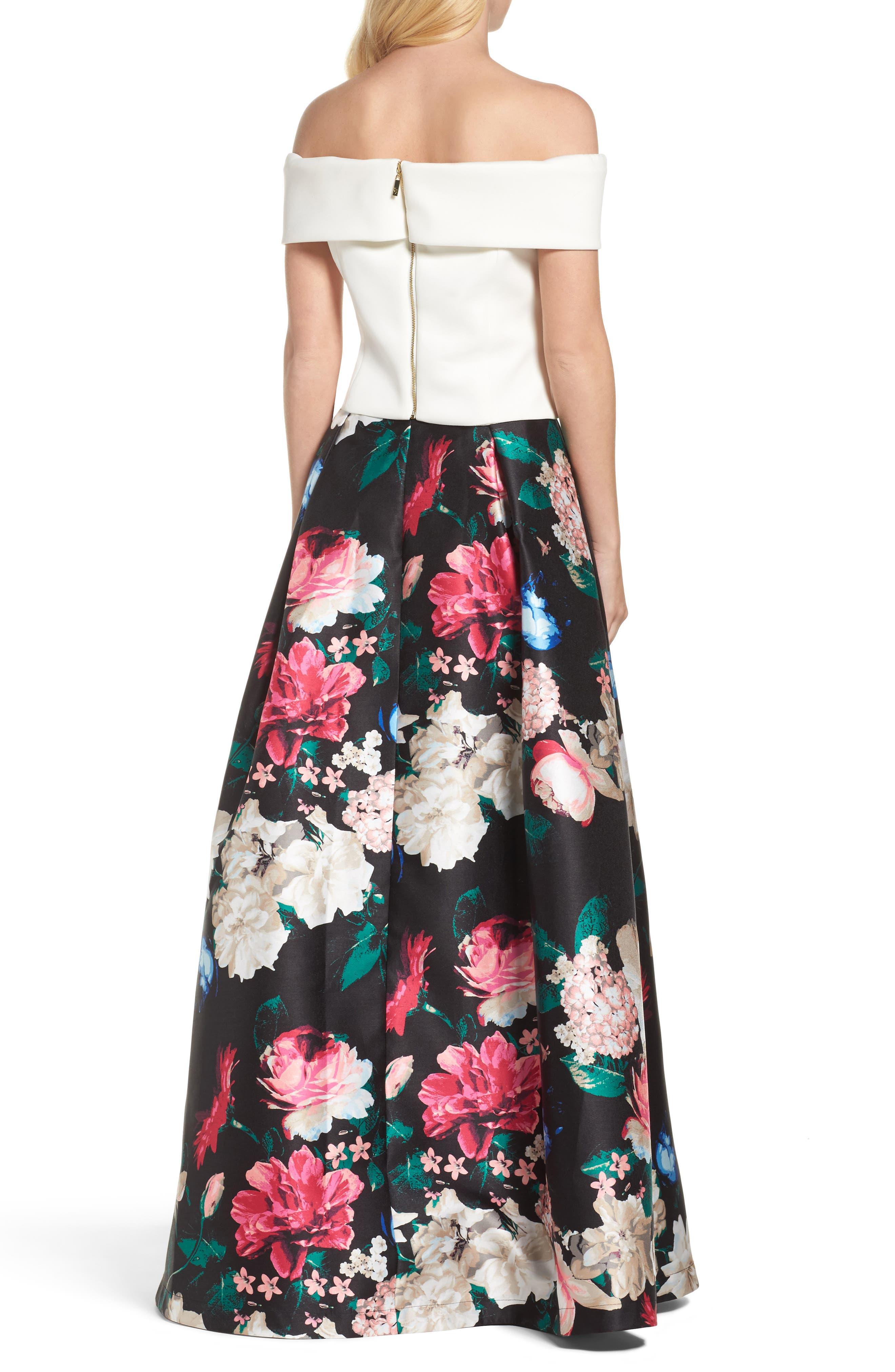 Faille Ball Skirt,                             Alternate thumbnail 4, color,                             Black/ Pink