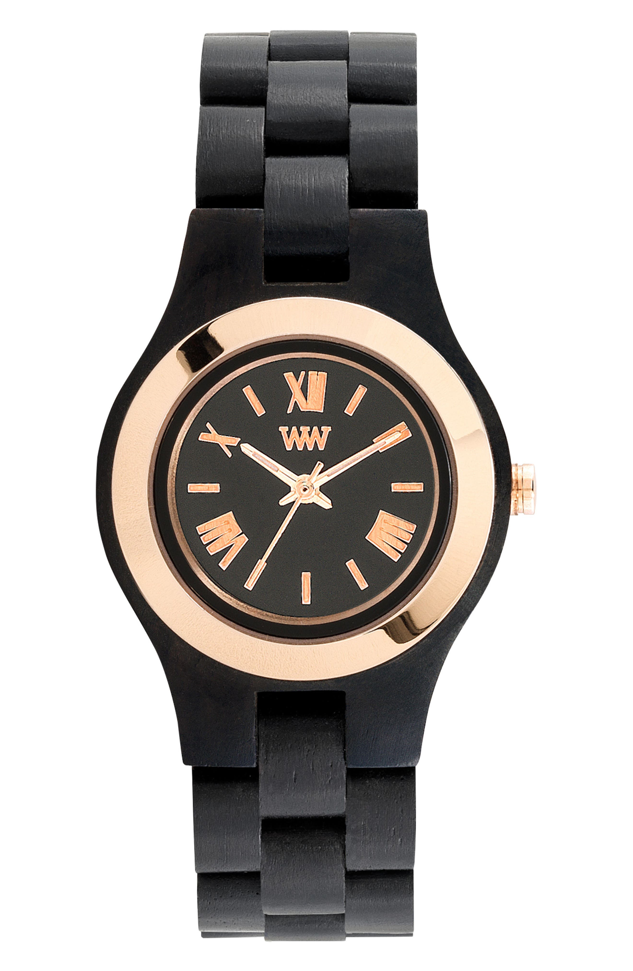 Alternate Image 1 Selected - WeWOOD Criss Wood Bracelet Watch, 31mm