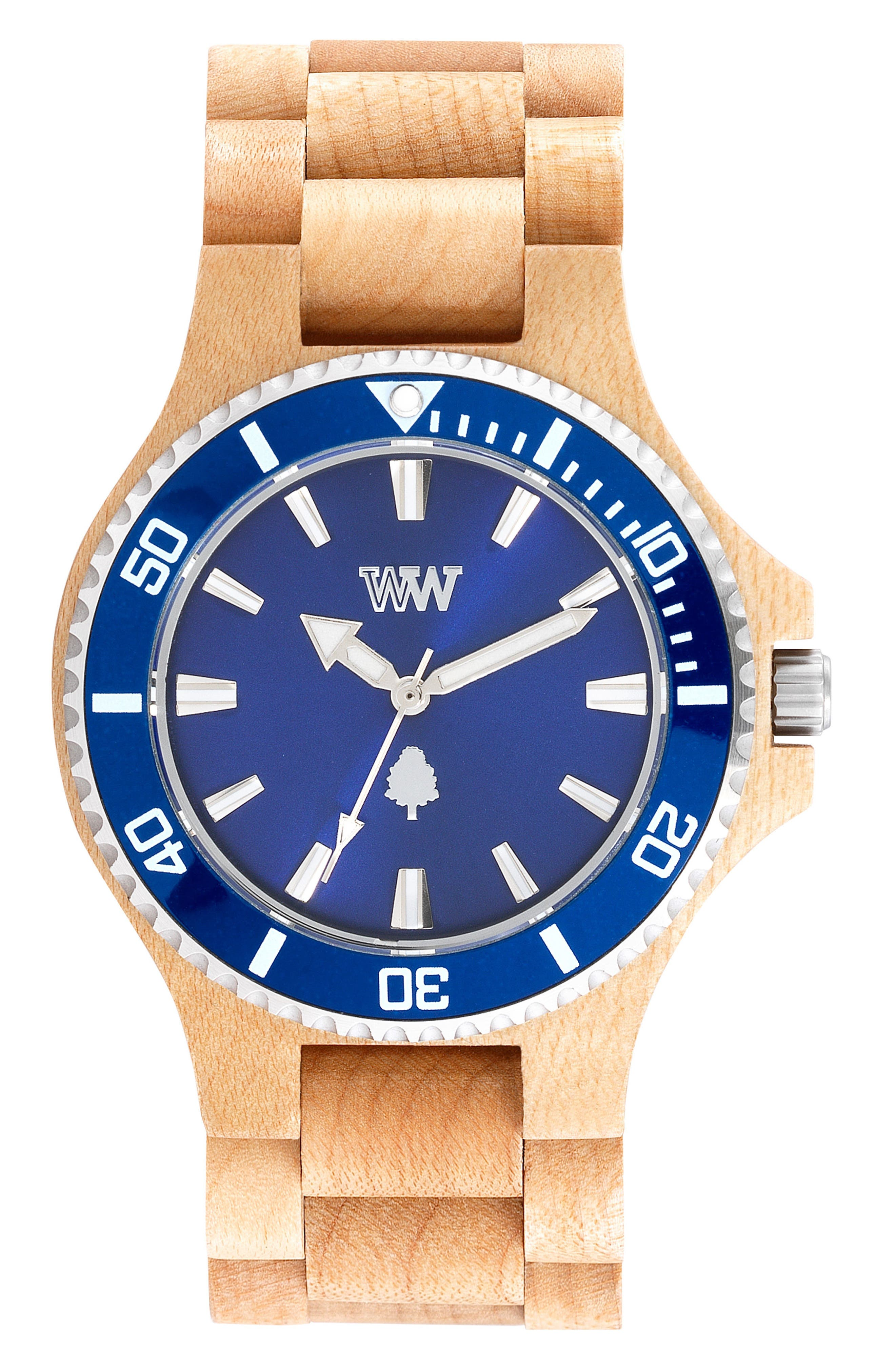 WEWOOD Date MB Wood Bracelet Watch, 42mm
