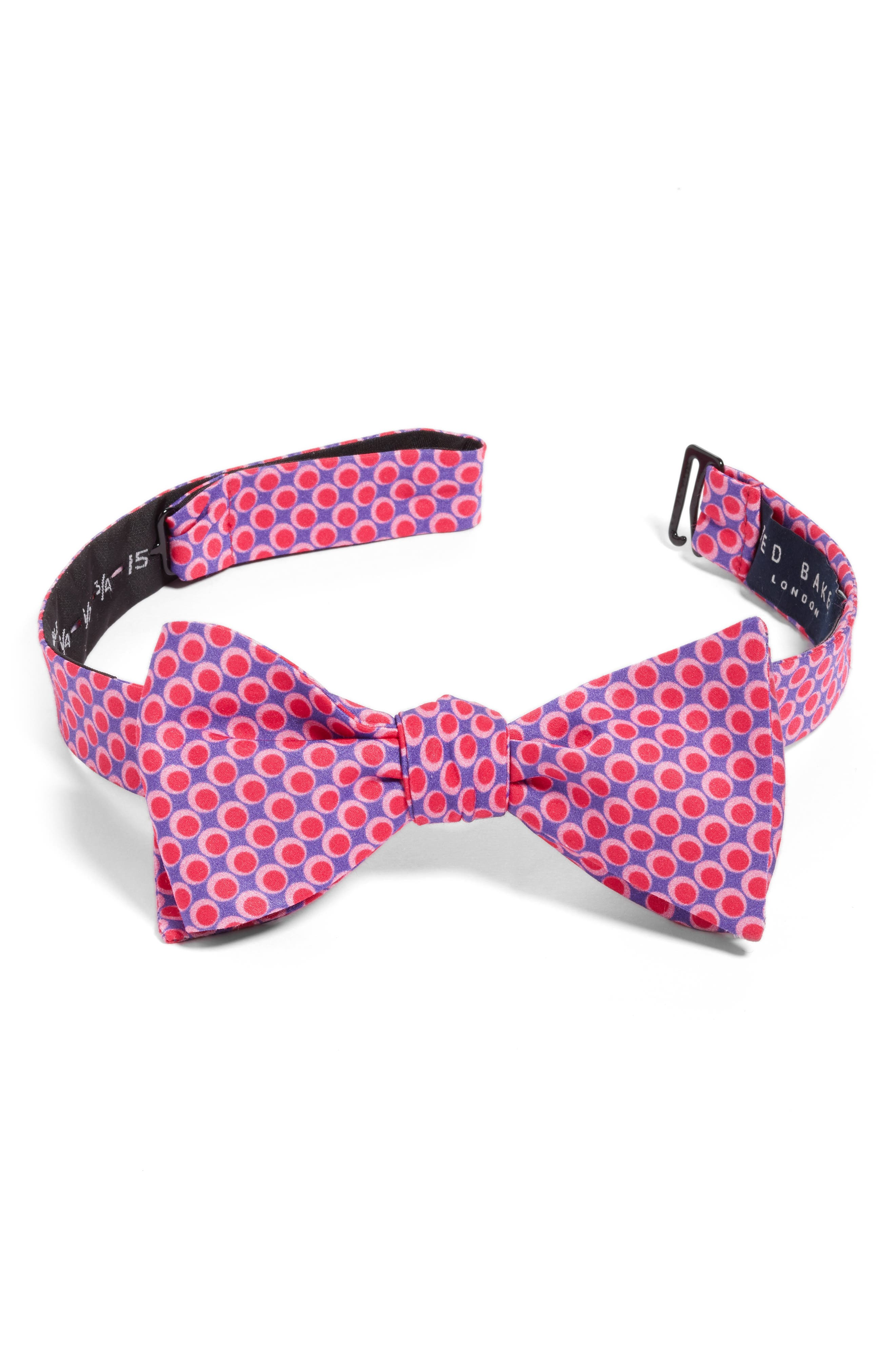 Alternate Image 1 Selected - Ted Baker London Dot Cotton & Silk Bow Tie