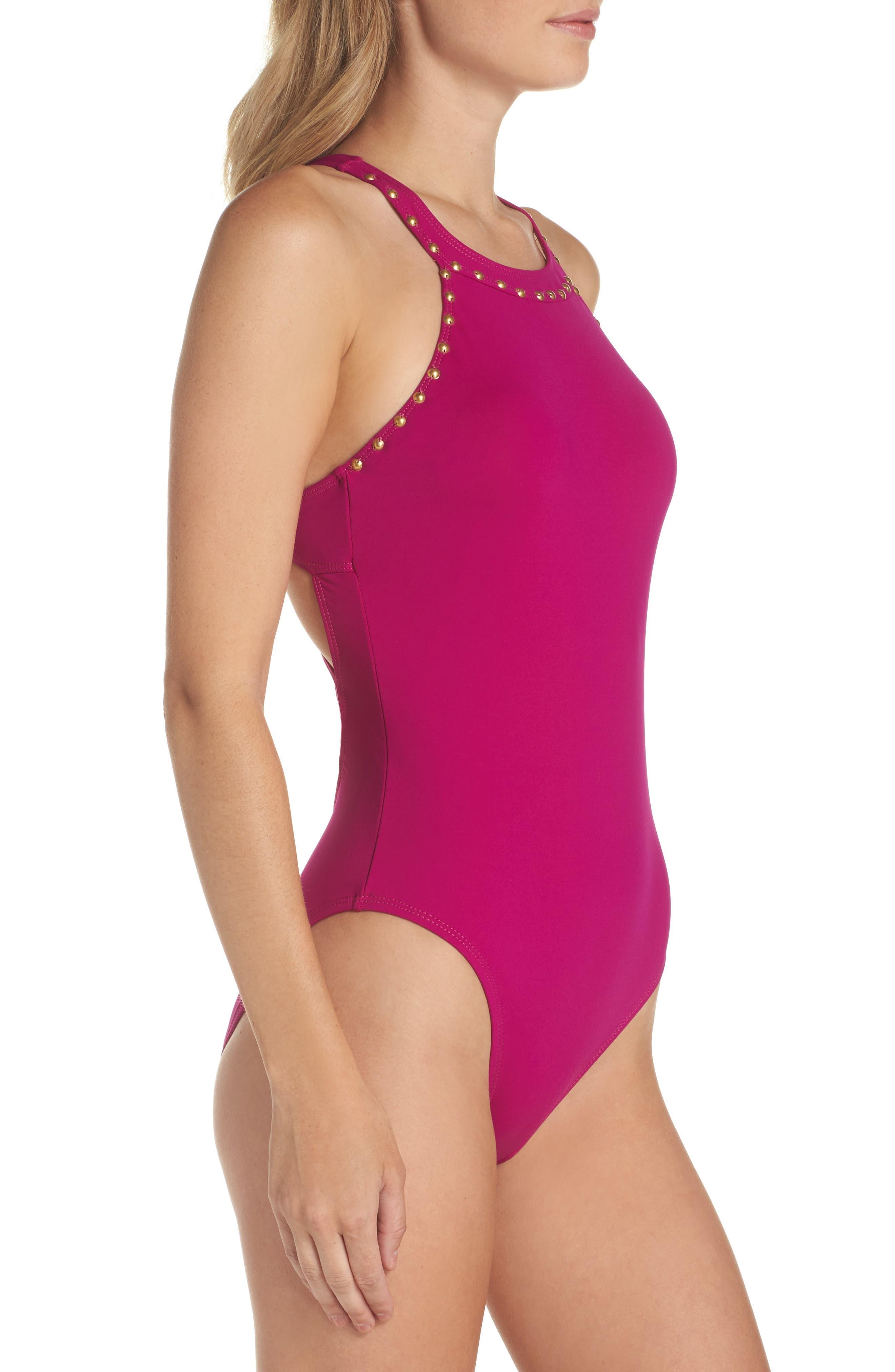 Alternate Image 3  - La Blanca Deco Studded One-Piece Swimsuit