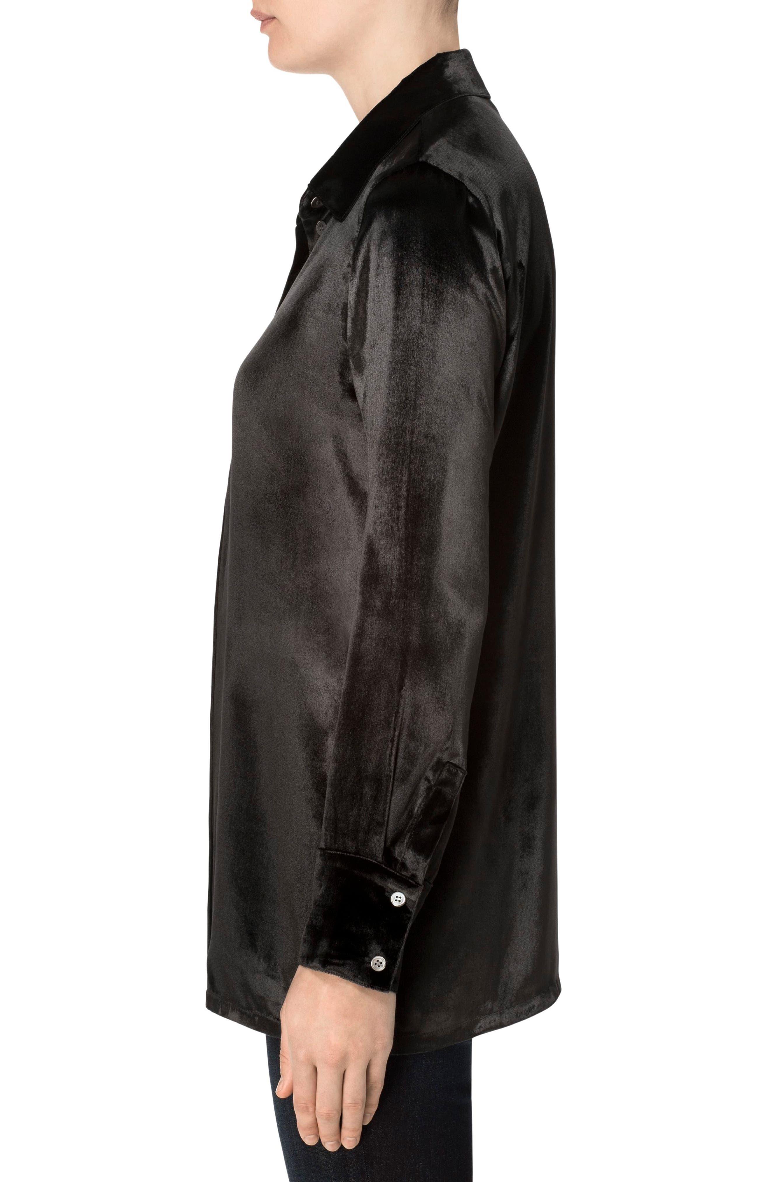 Alternate Image 3  - J Brand Nora Velvet Shirt