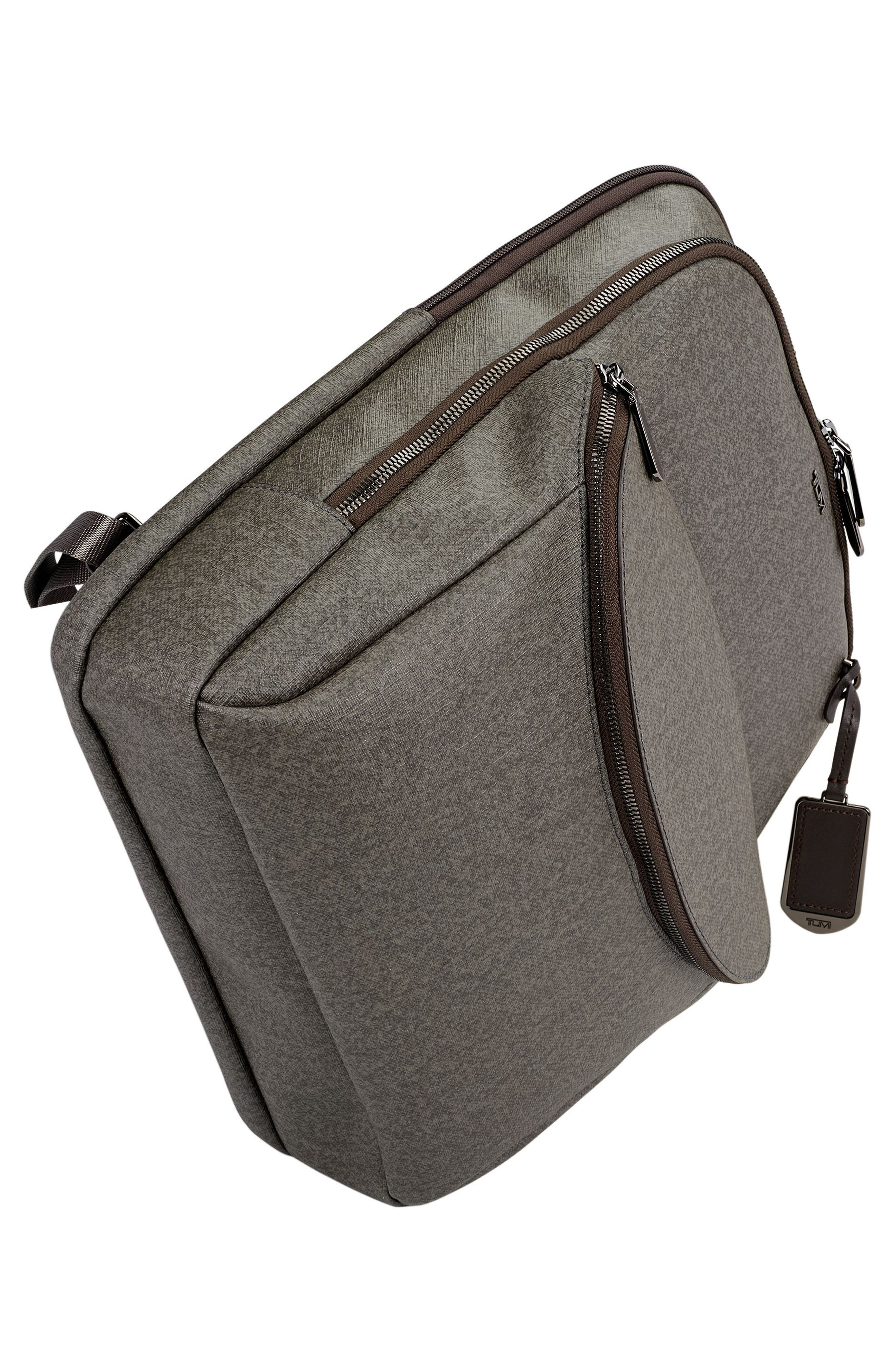 Sinclair - Hanne Coated Canvas Laptop Backpack,                             Alternate thumbnail 5, color,                             Earl Grey