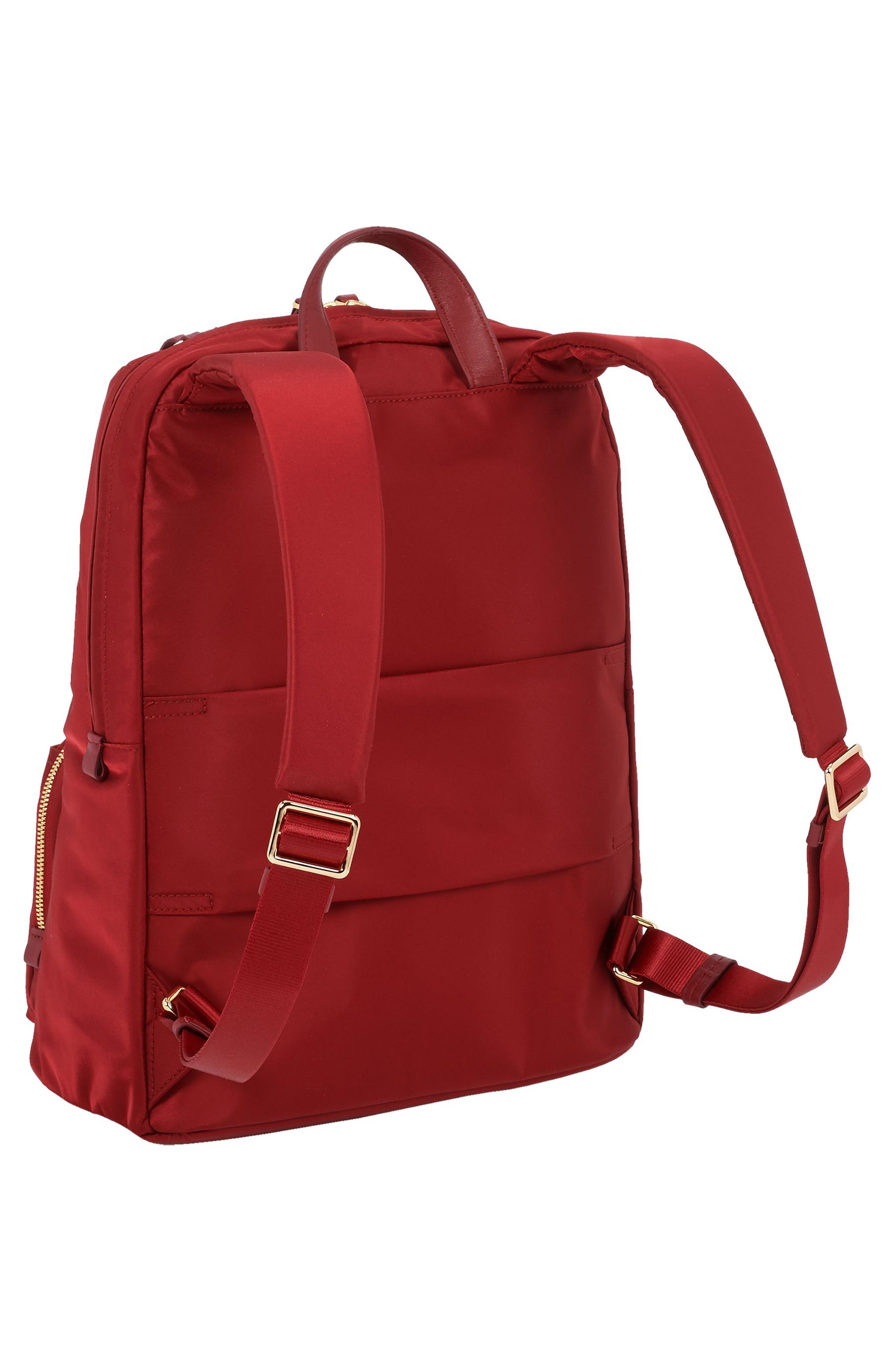 Voyageur Halle Nylon Backpack,                             Alternate thumbnail 3, color,                             Crimson