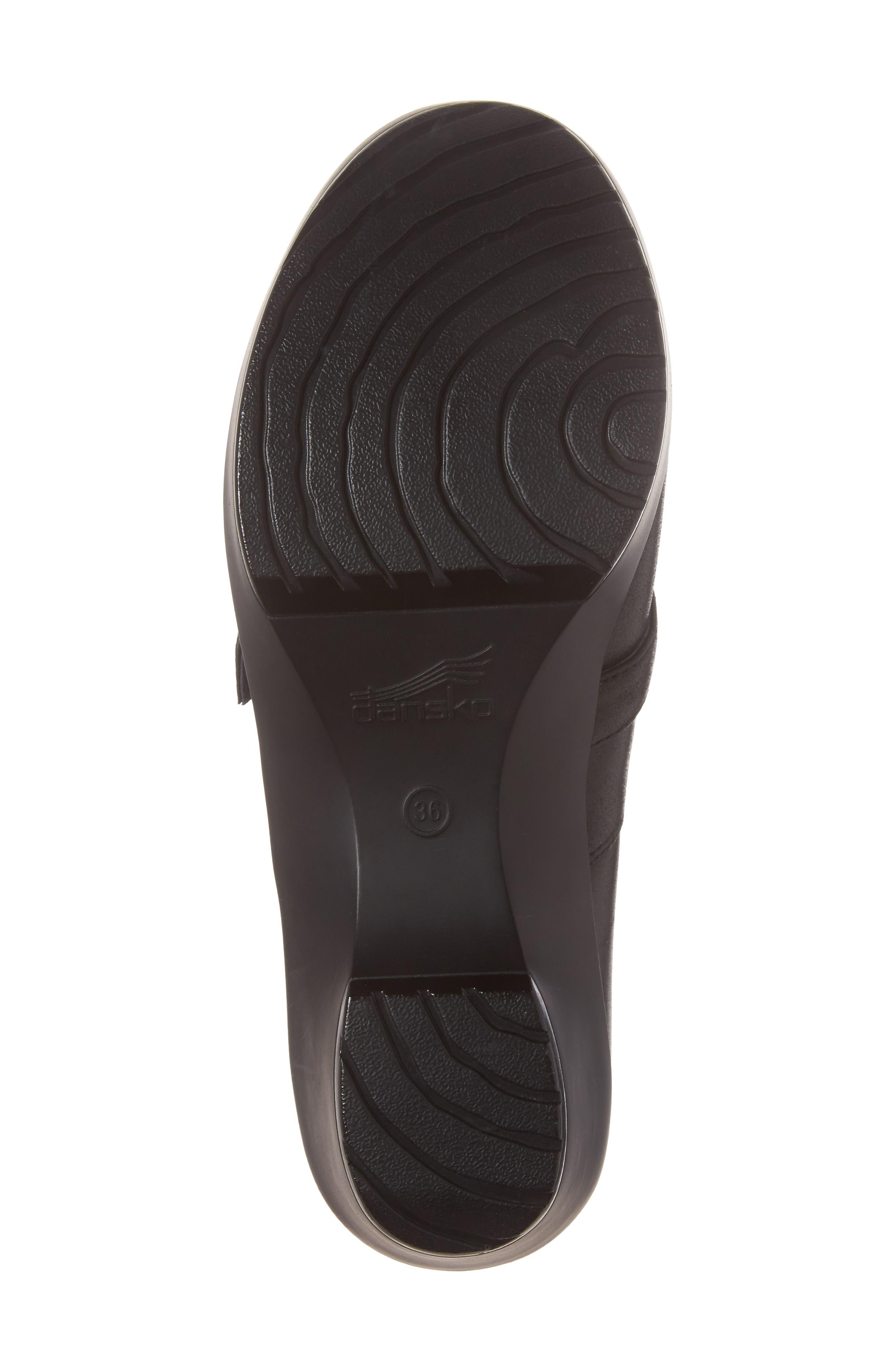 Jane Platform Loafer,                             Alternate thumbnail 6, color,                             Black Burnished Nappa Leather