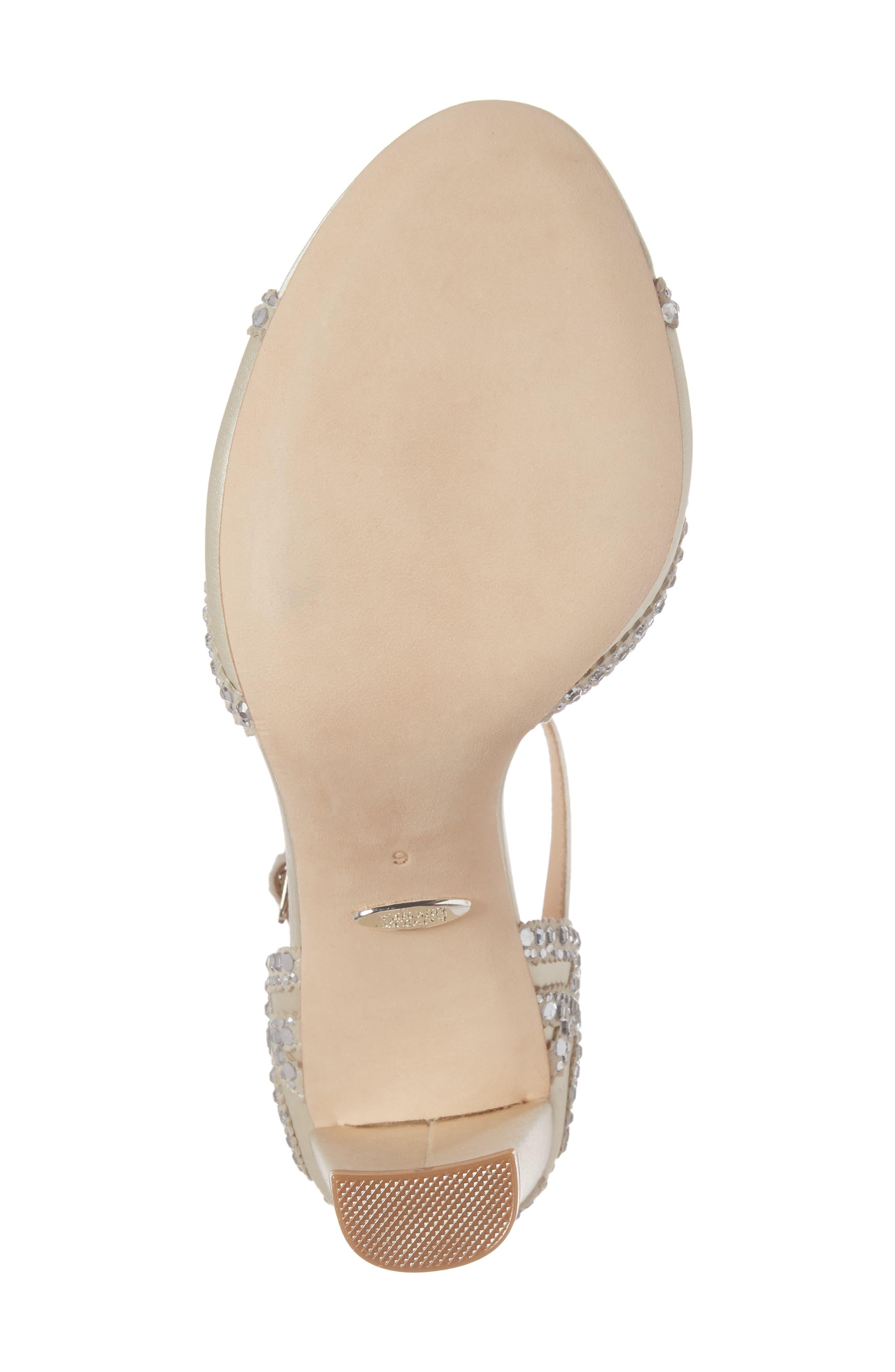 Alternate Image 6  - Badgley Mischka Kelly Embellished Crescent Heel Sandal (Women)