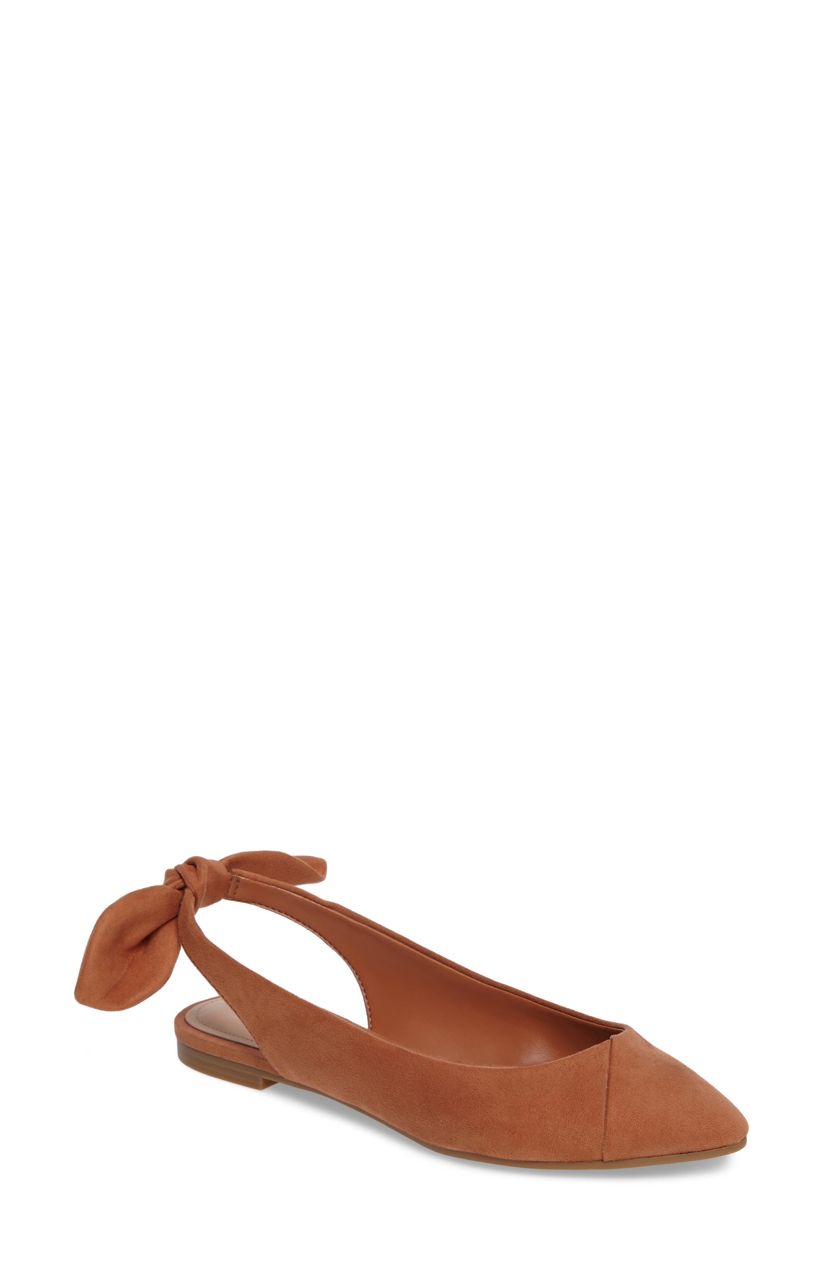 Alternate Image 1 Selected - BCBG Mara Bow Pointy Toe Flat (Women)