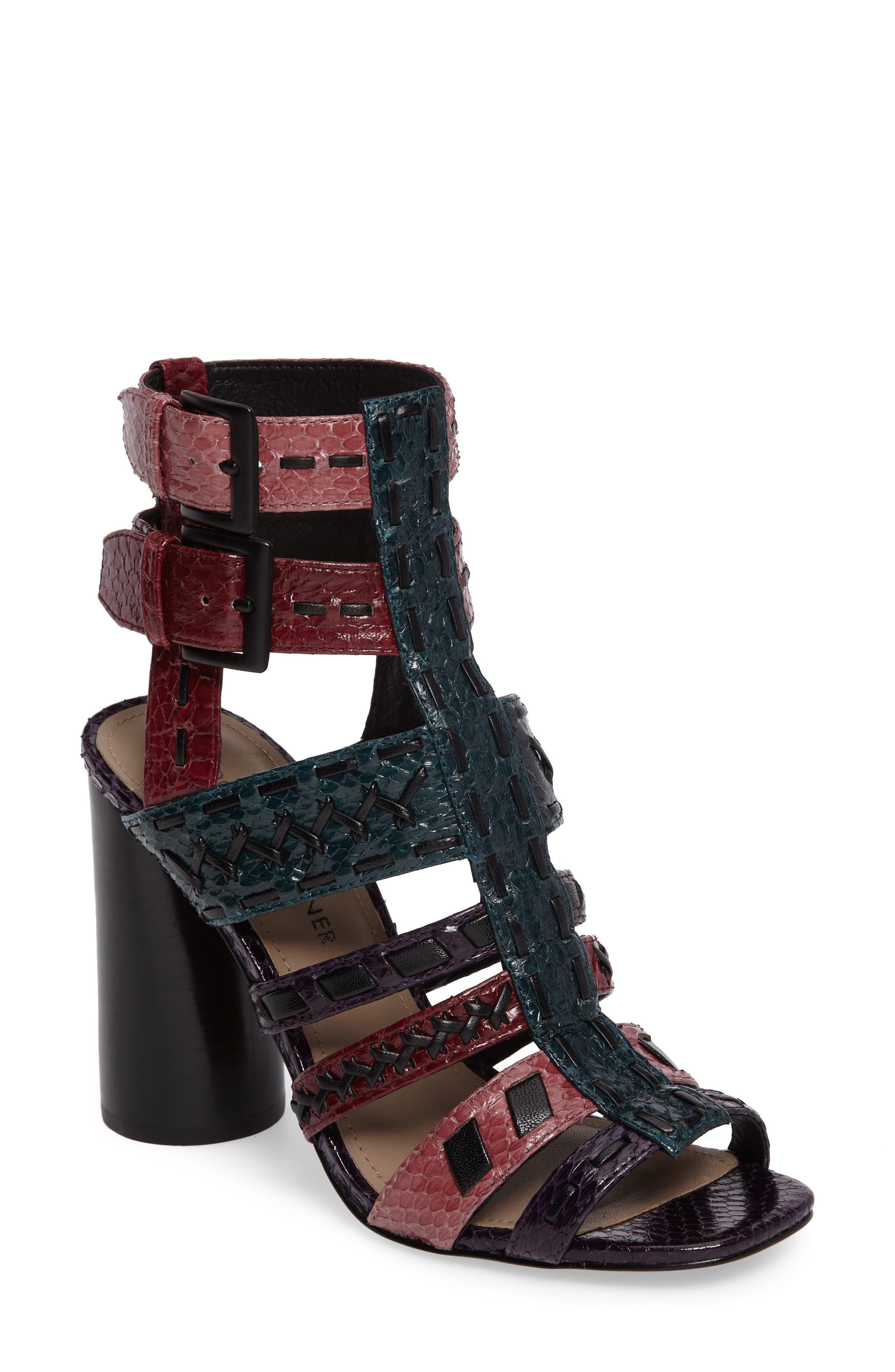 Donald J Pliner Bindy Column Heel Cage Sandal (Women)