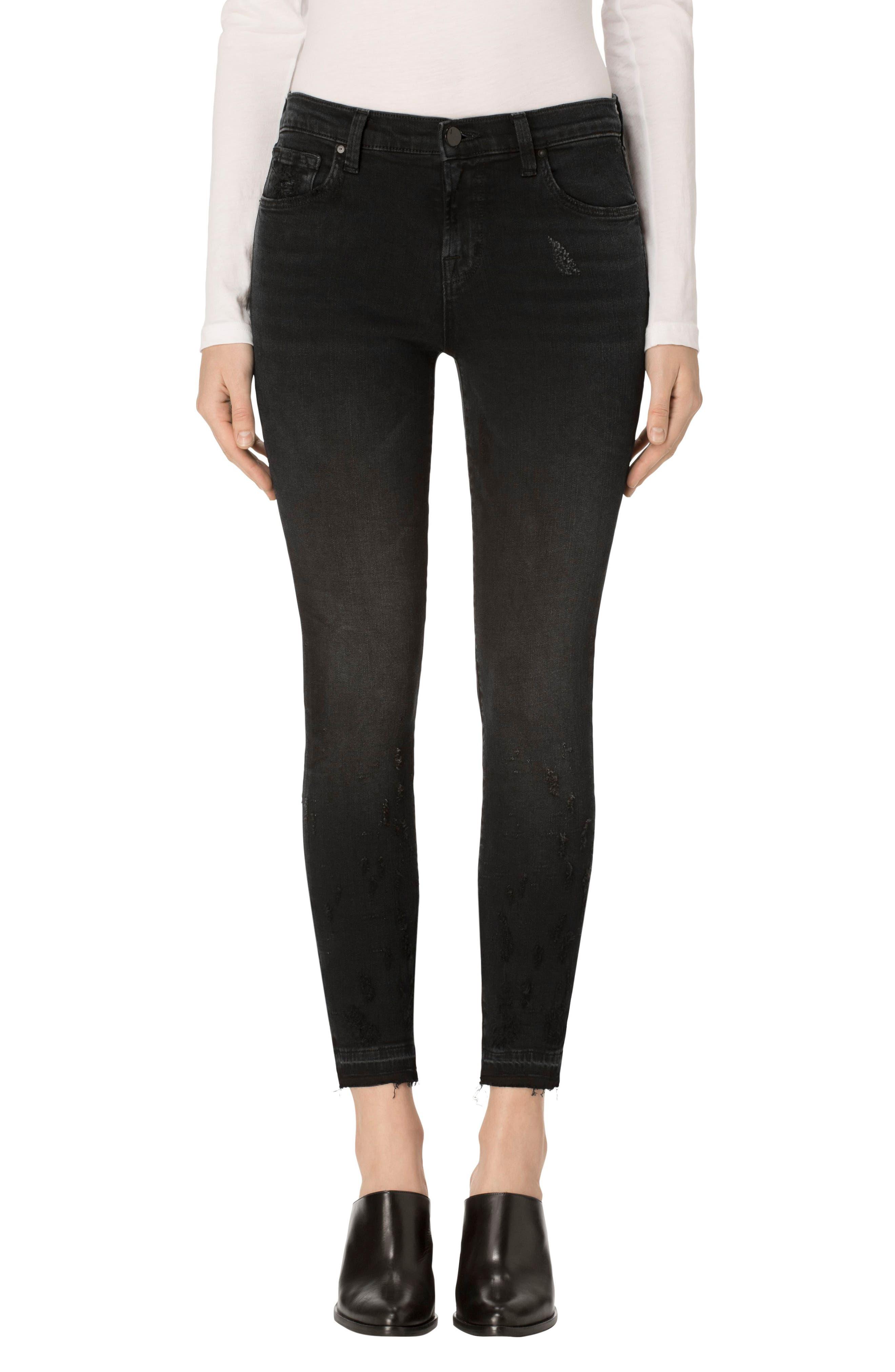 Alternate Image 1 Selected - J Brand 835 Released Hem Crop Skinny Jeans (Corrupted)