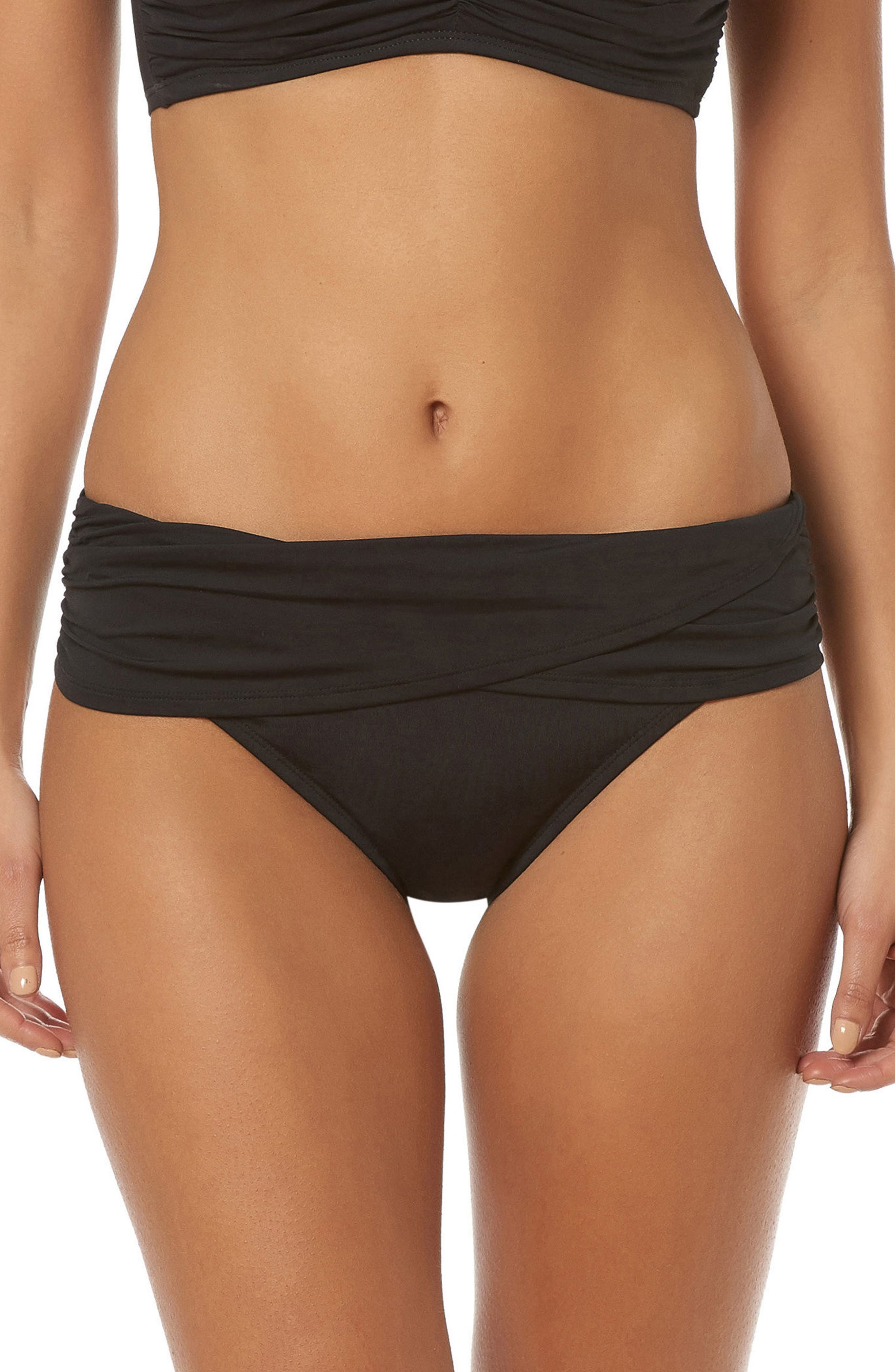 BLEU by Rod Beattie Hipster Bikini Bottoms,                         Main,                         color, Black