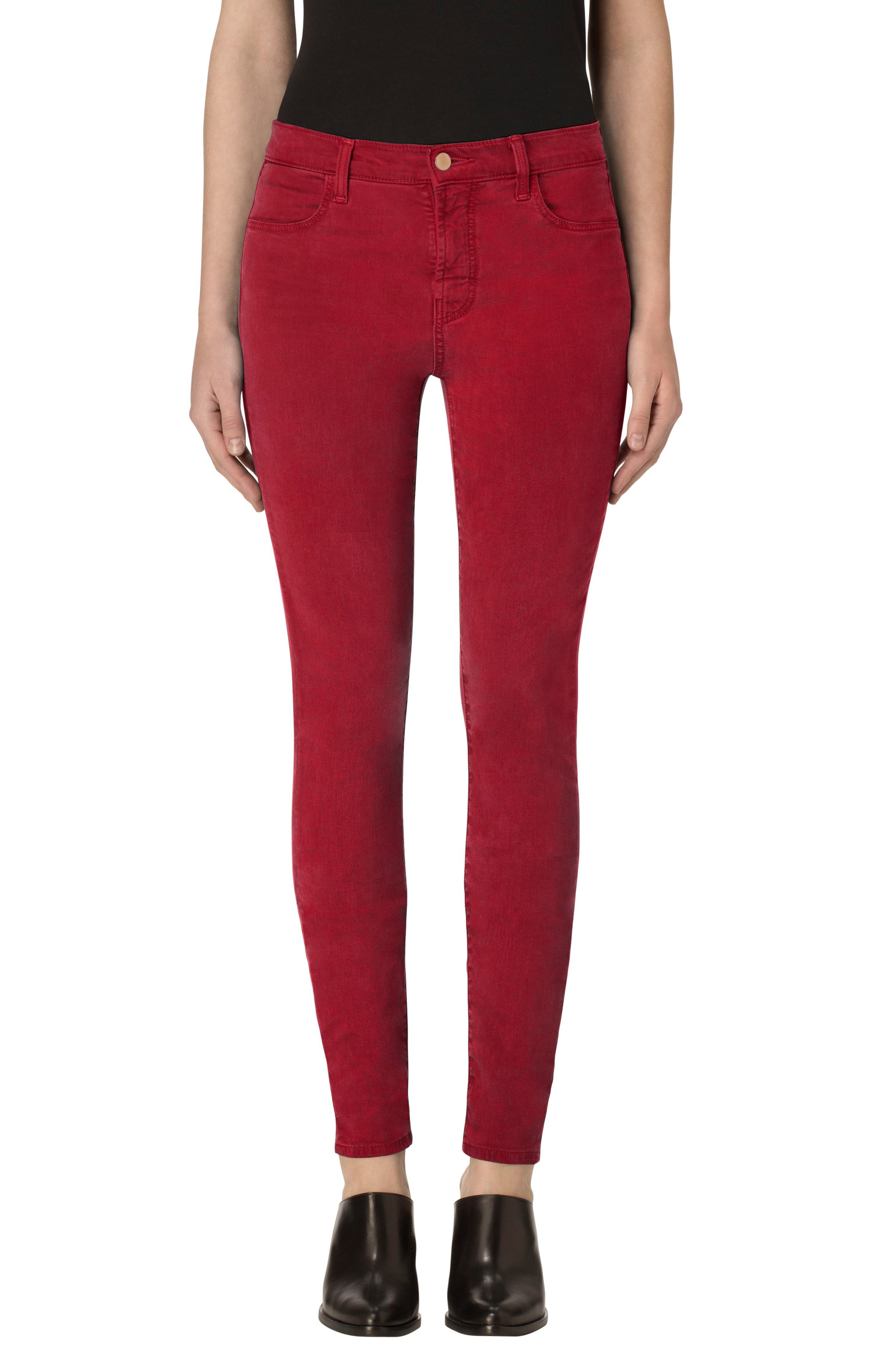 Alternate Image 1 Selected - J Brand High Waist Ankle Super Skinny Jeans