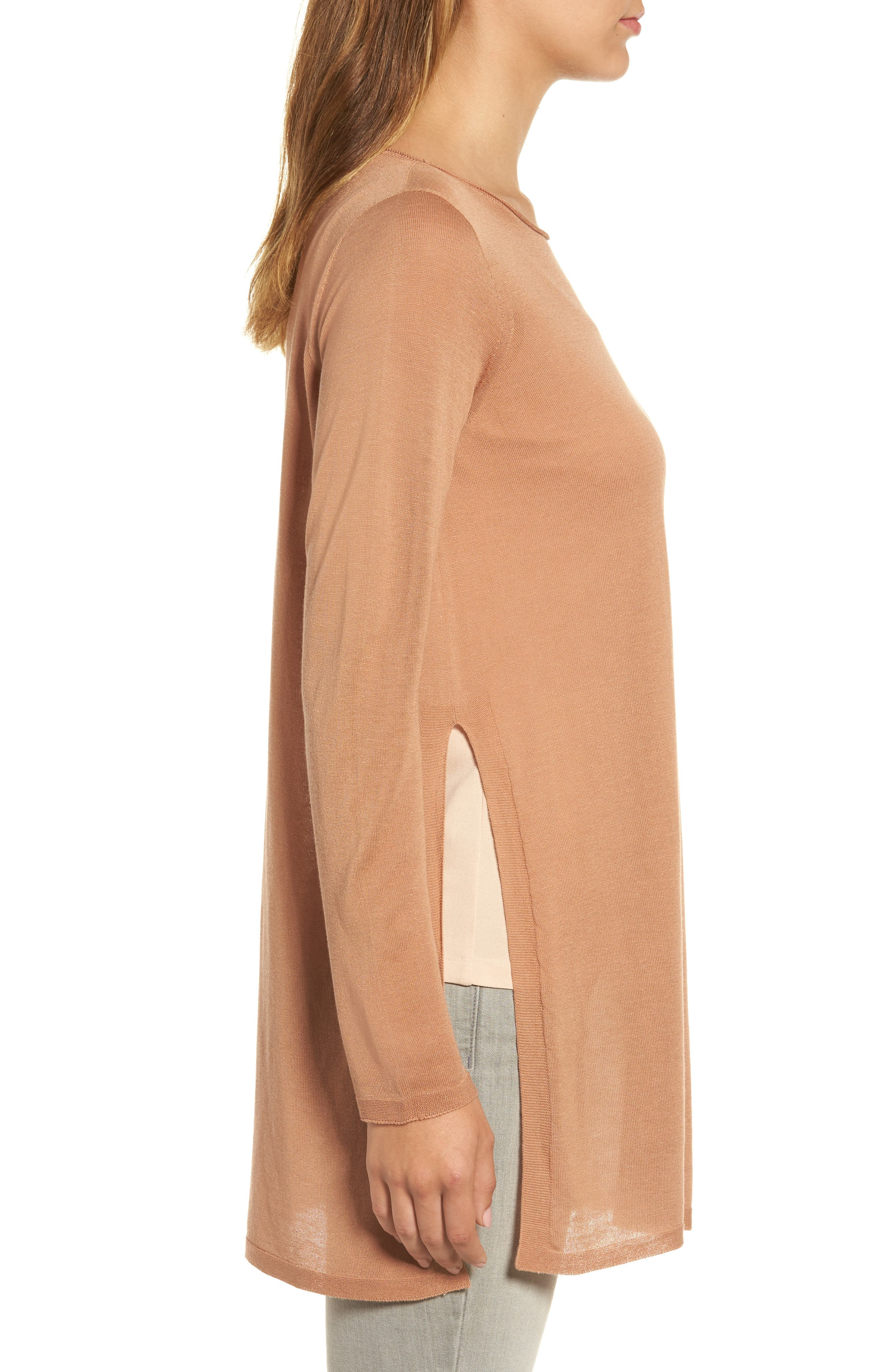 Alternate Image 3  - Eileen Fisher Side Slit Tencel® Tunic